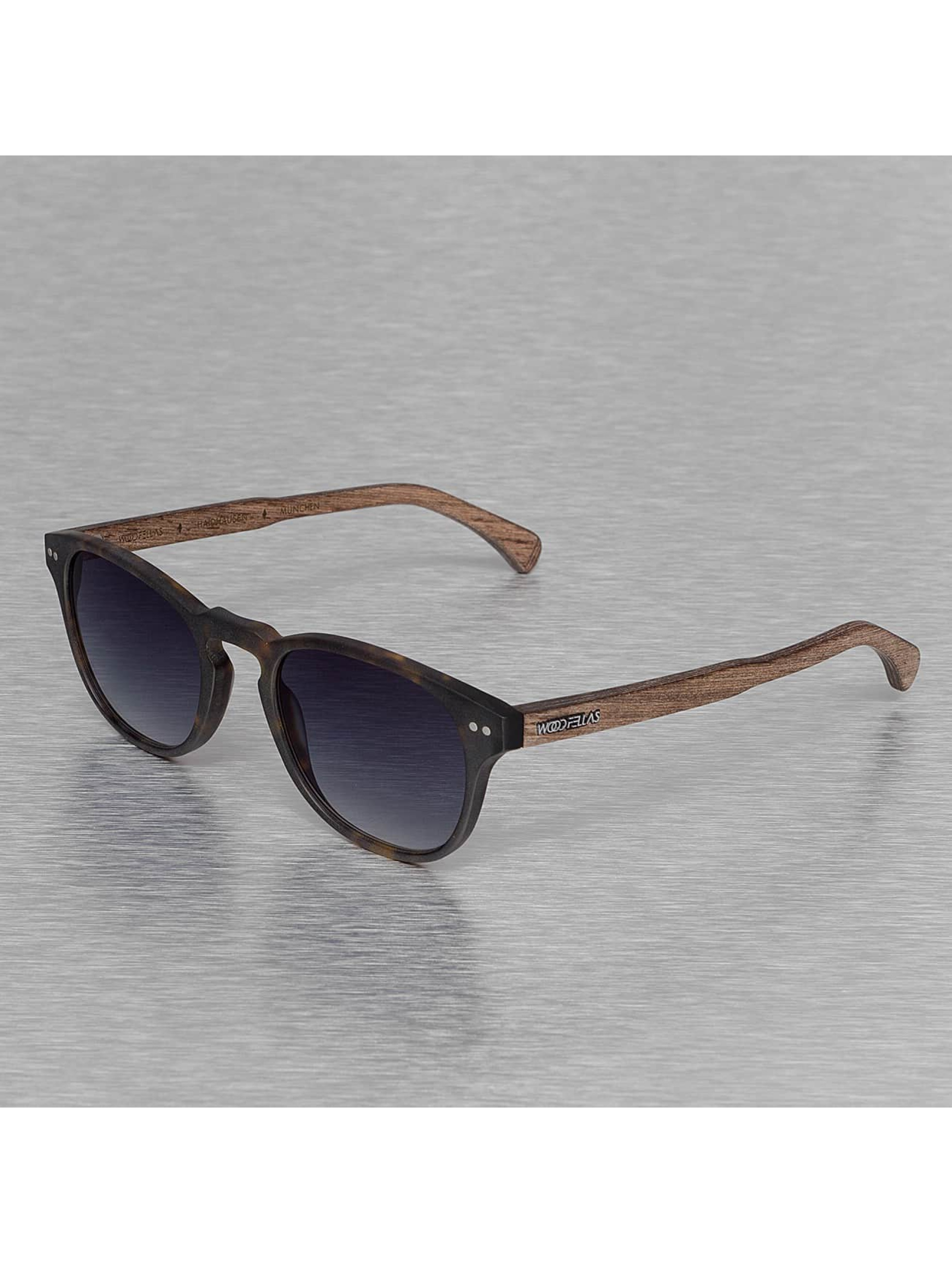 Wood Fellas Eyewear Männer,Frauen Sonnenbrille Eyewear Haidhausen Polarized Mirror in braun