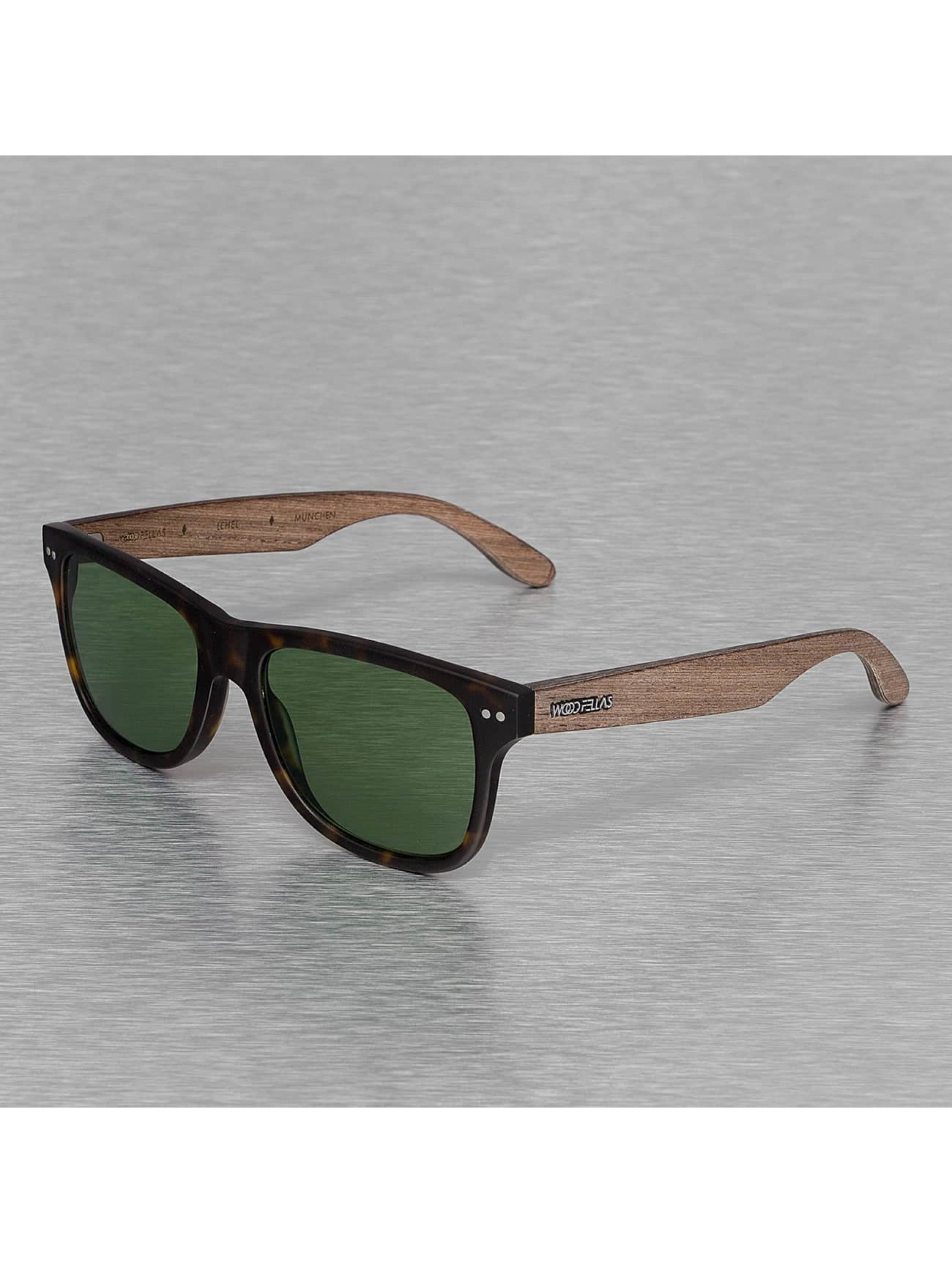 Wood Fellas Eyewear Männer,Frauen Sonnenbrille Eyewear Lehel Polarized Mirror in braun