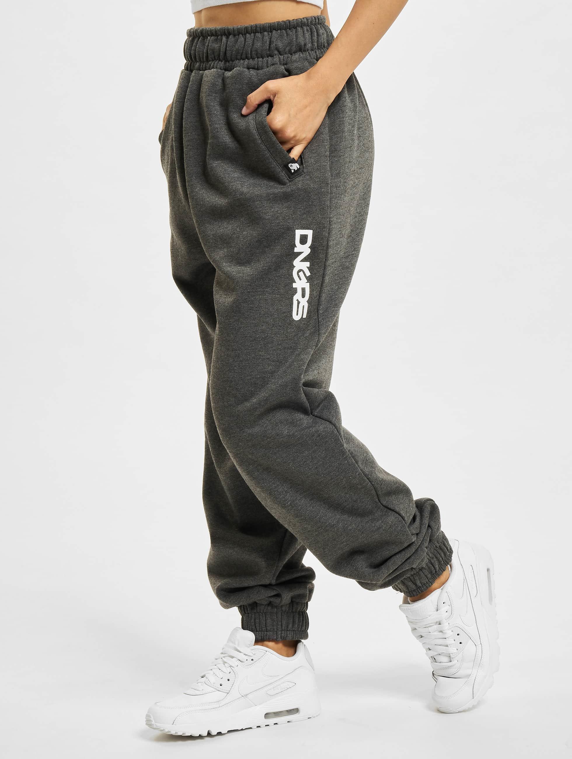 Dangerous DNGRS / Sweat Pant Soft Dream Leila Ladys Logo in grey M