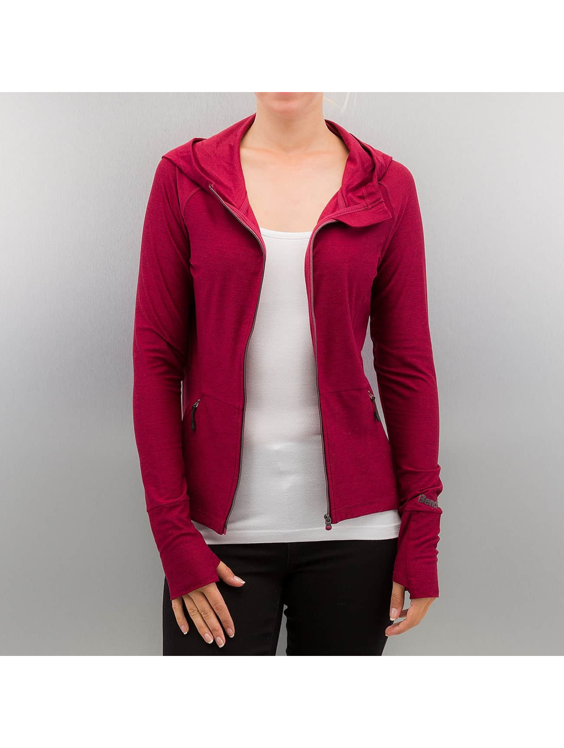 Bench Frauen Zip Hoodie Performance Sultry B in rot