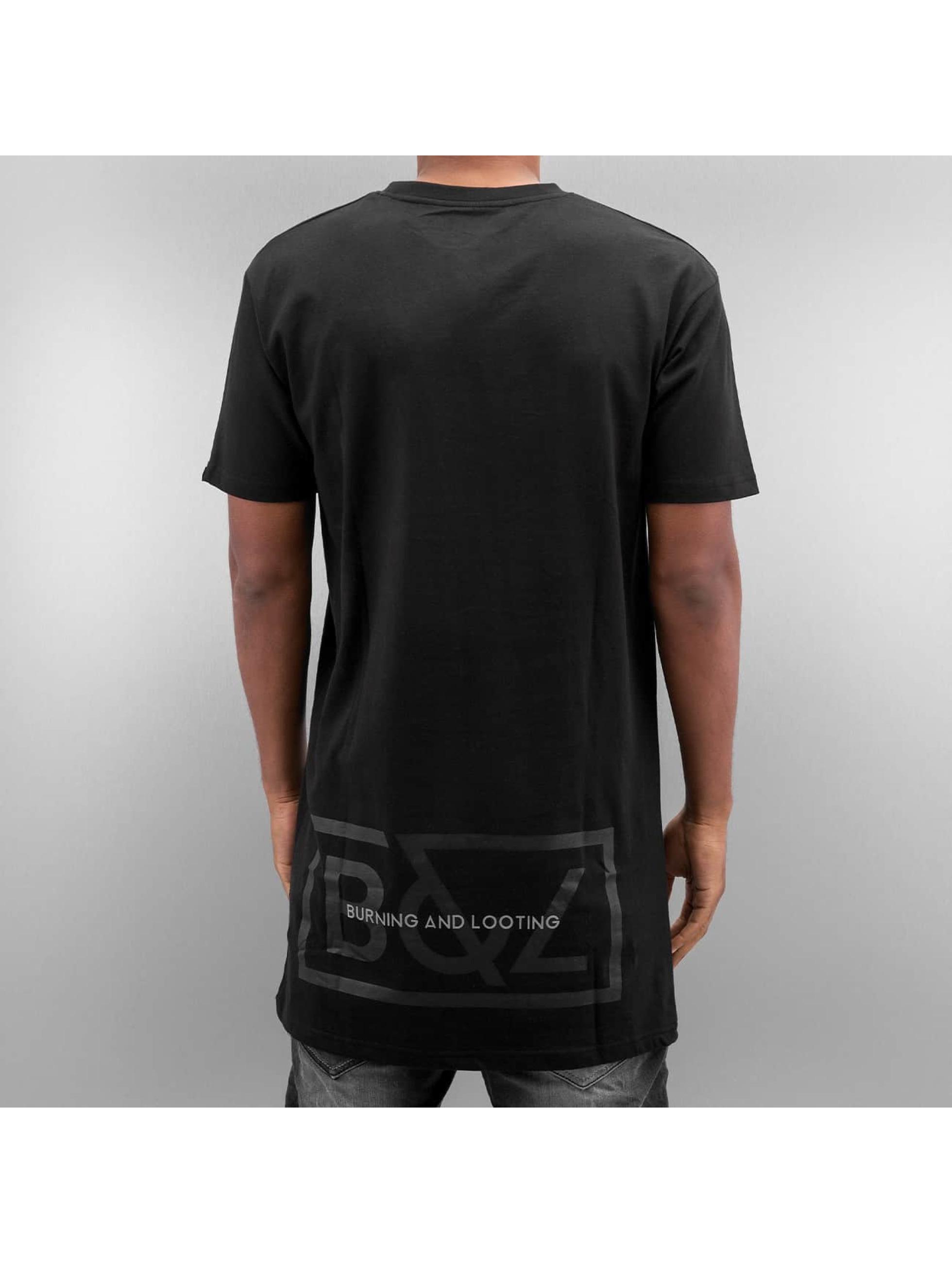 Grimey Wear Männer T-Shirt Fire Eater Long in schwarz