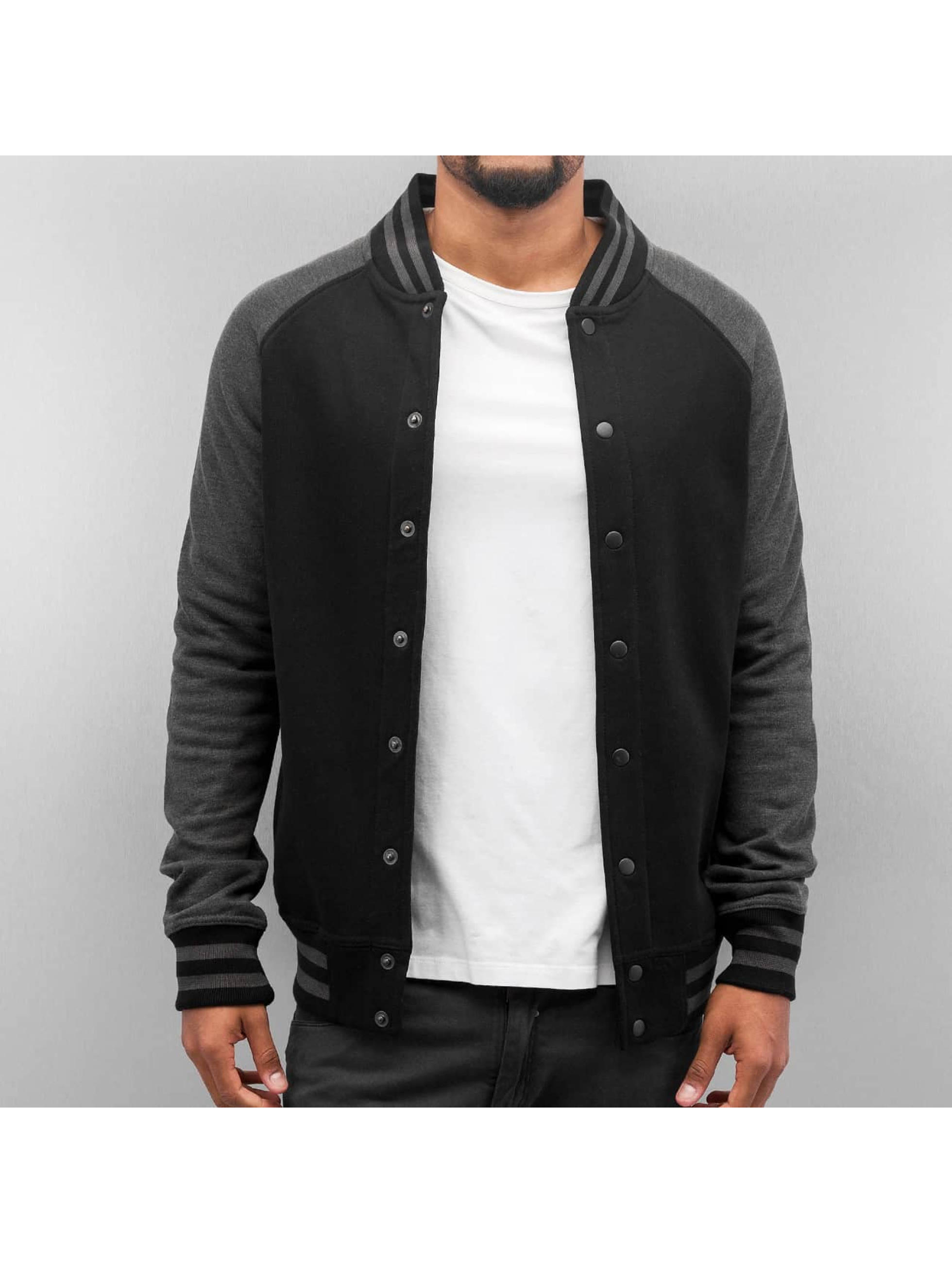 Cyprime Raglan College Jacket Black Anthracite