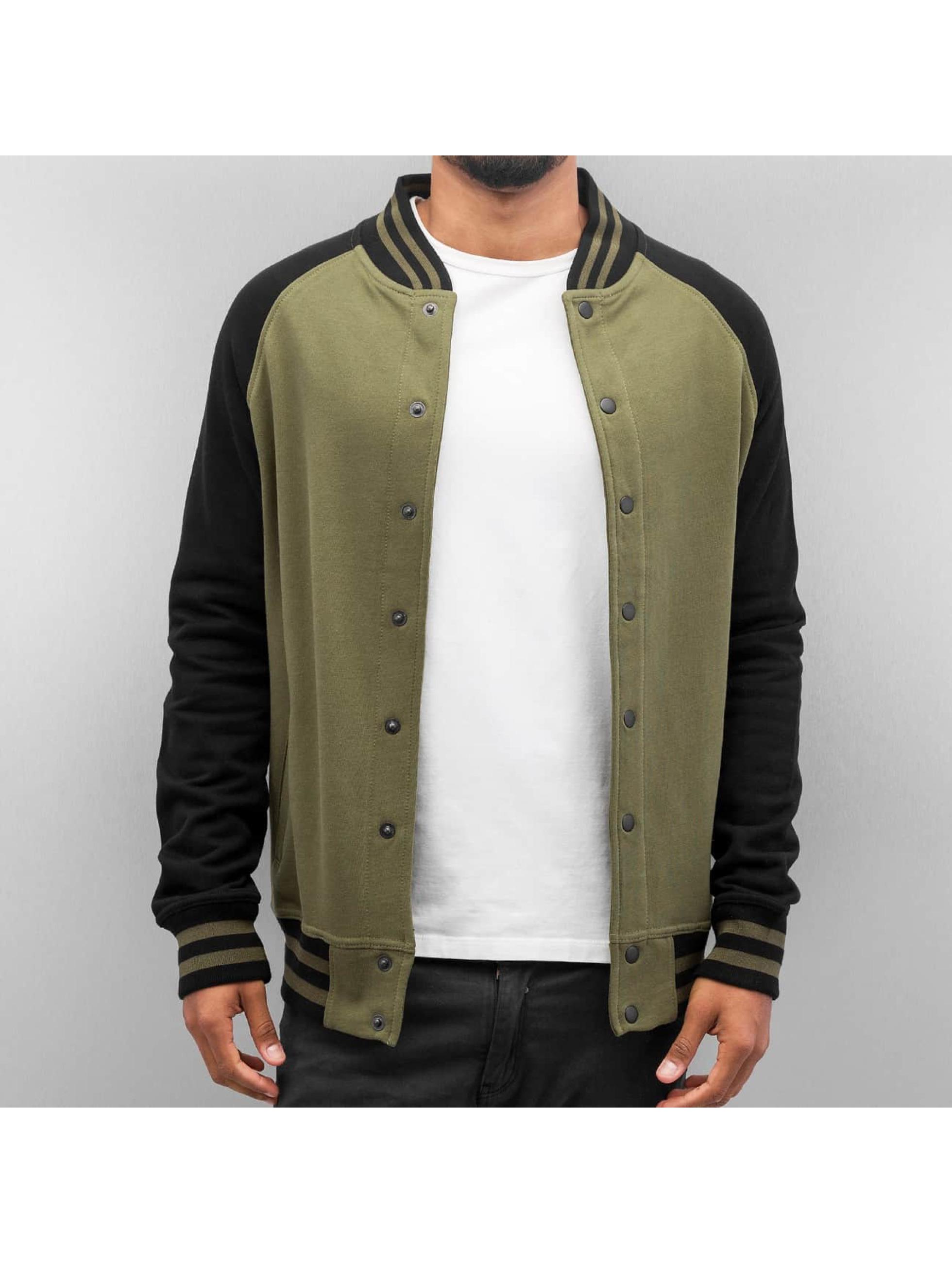 Cyprime Raglan College Jacket Olive Black