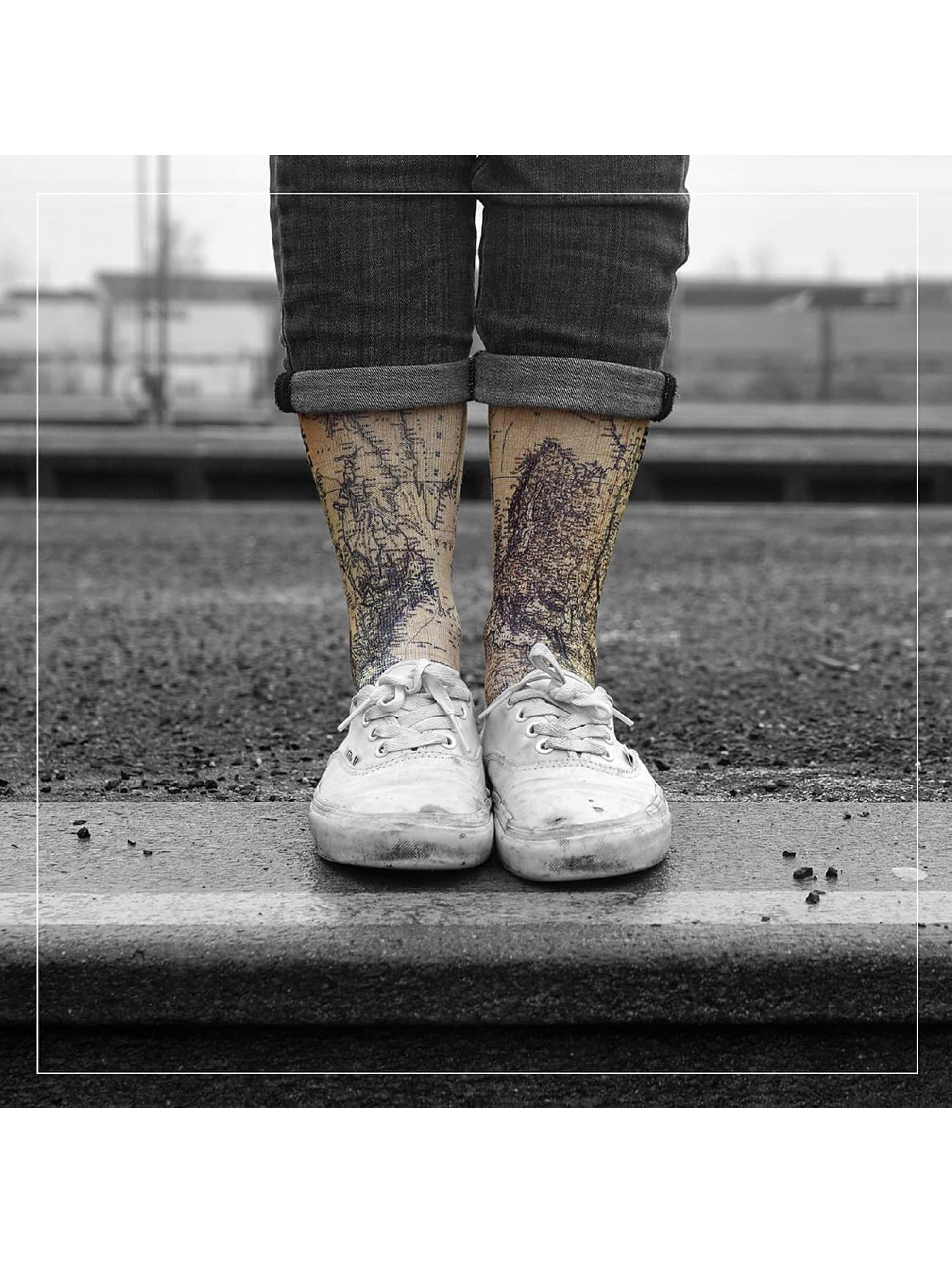 LUF SOX Männer,Frauen Socken World in bunt
