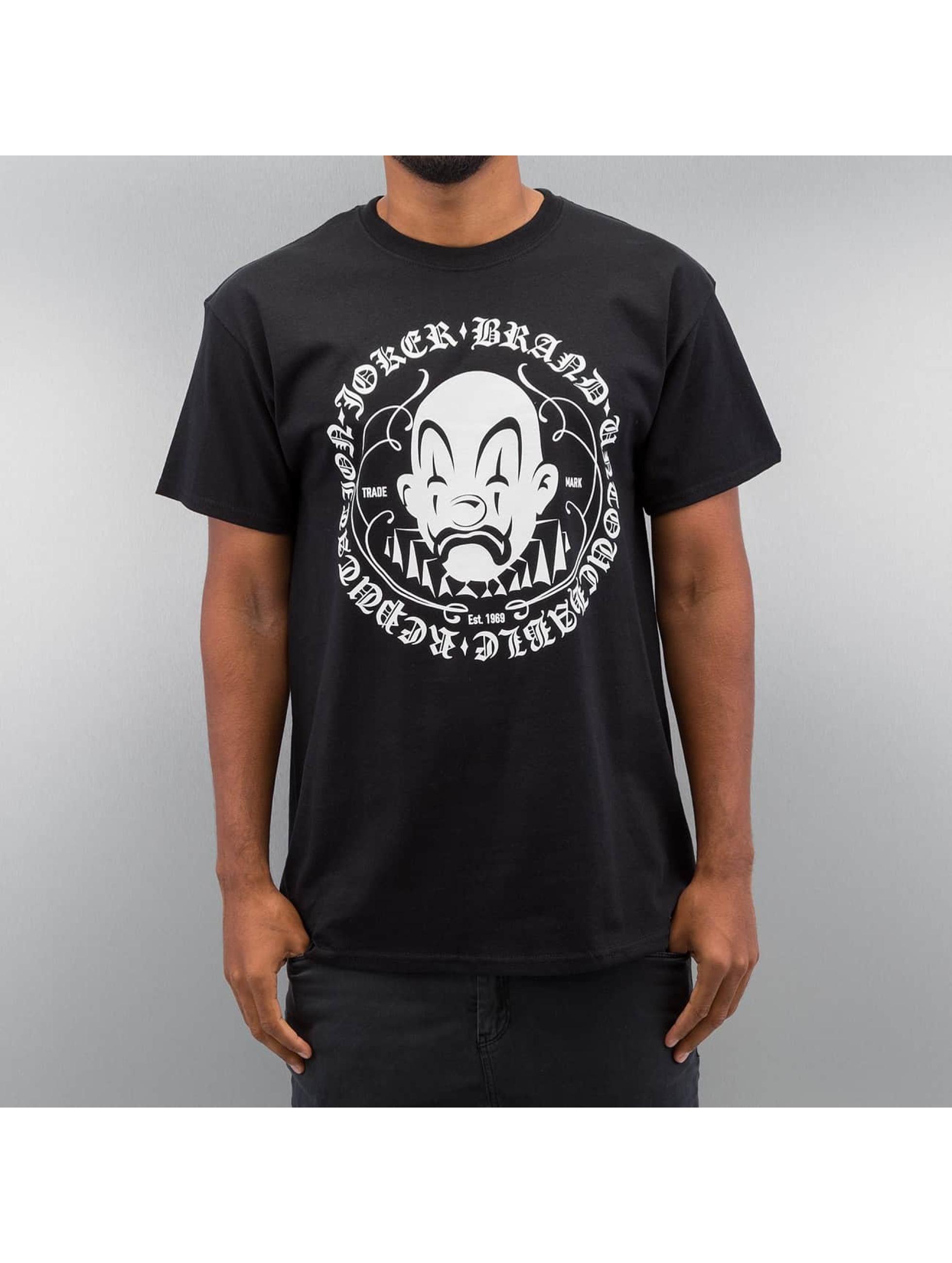 Joker Männer T-Shirt Circle Clown in schwarz