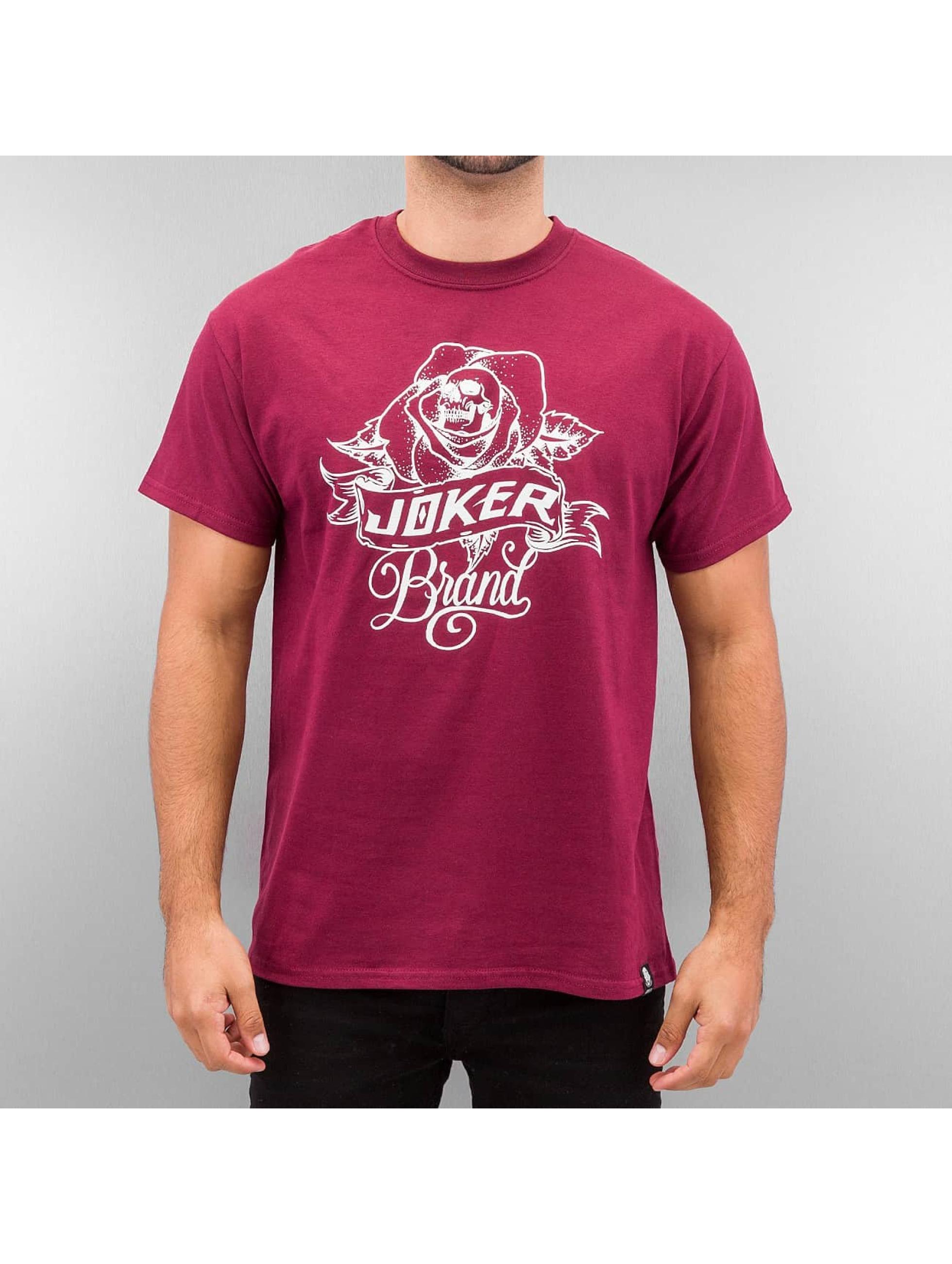 Joker Männer T-Shirt Rose in rot