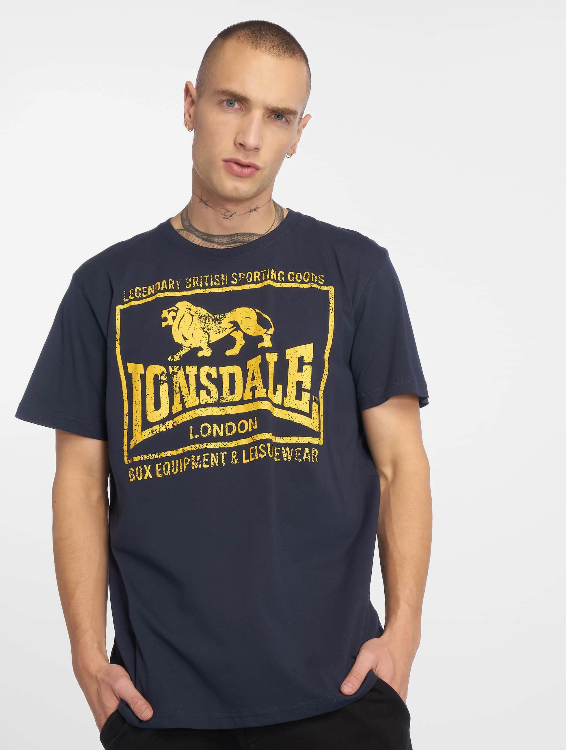 Lonsdale London Hounslow T Shirt Navy