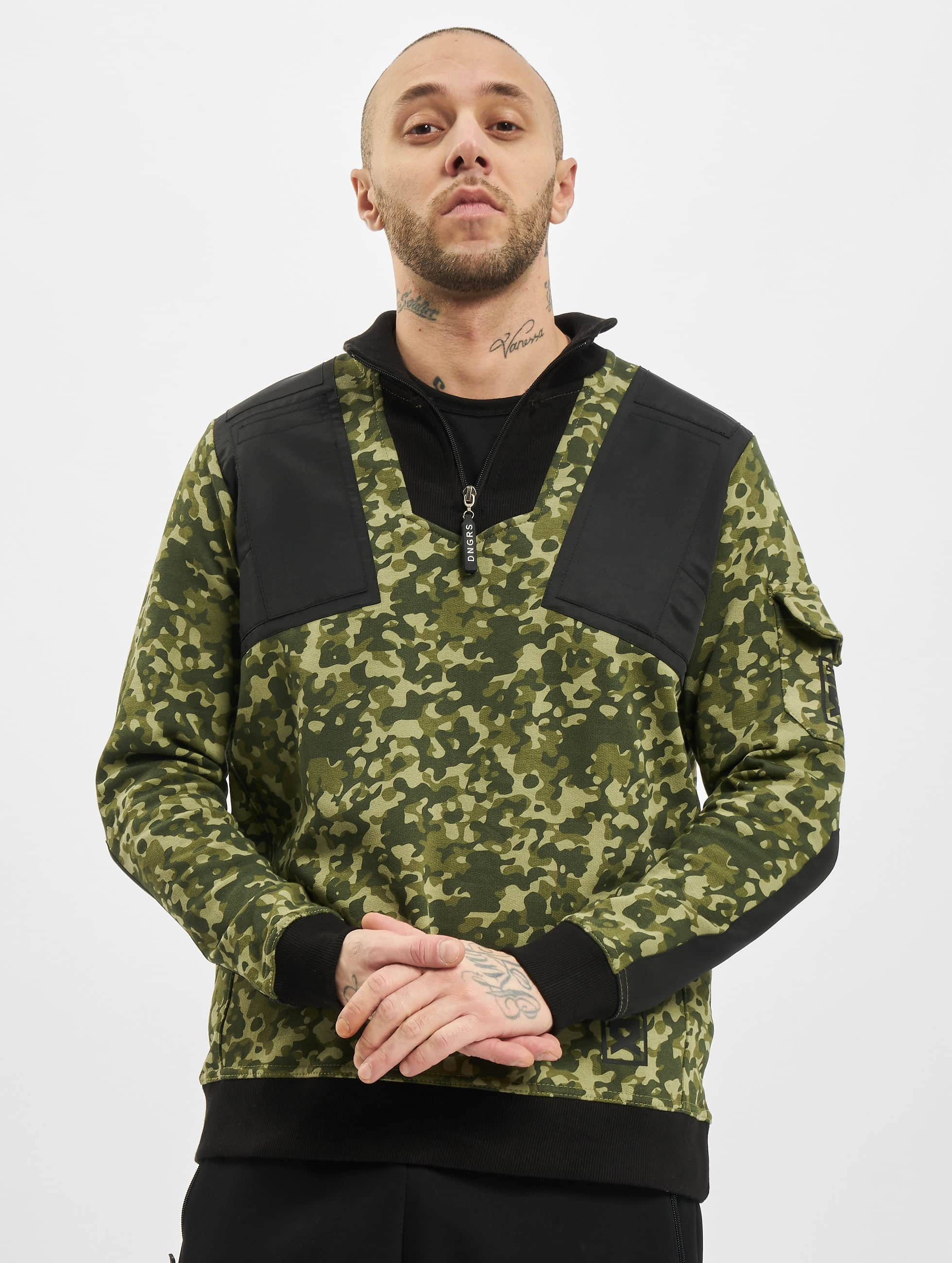 Dangerous DNGRS Männer Pullover Protect in camouflage Sale Angebote Laubsdorf