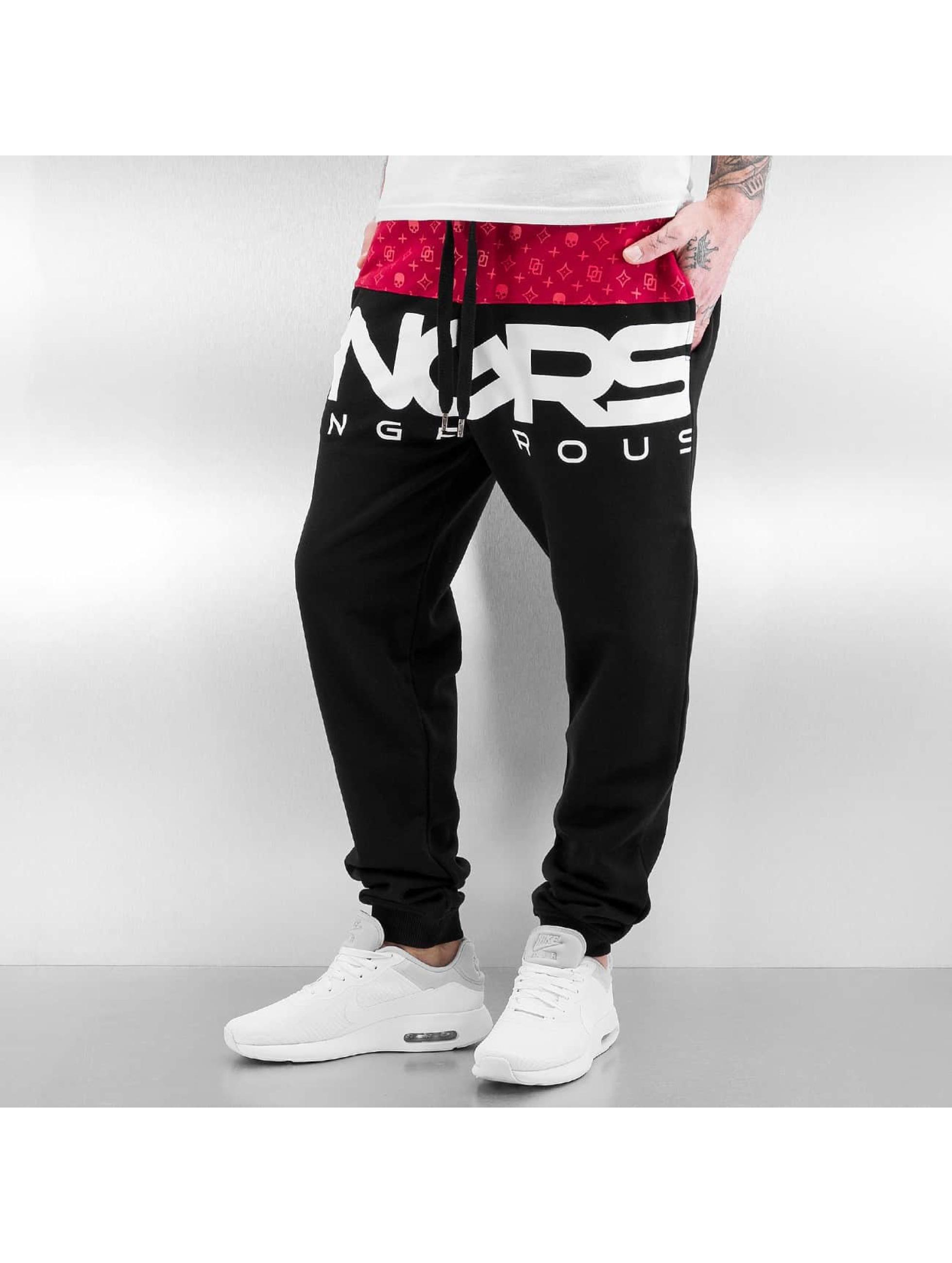 Dangerous DNGRS Race City Sweat Pants Black/Red