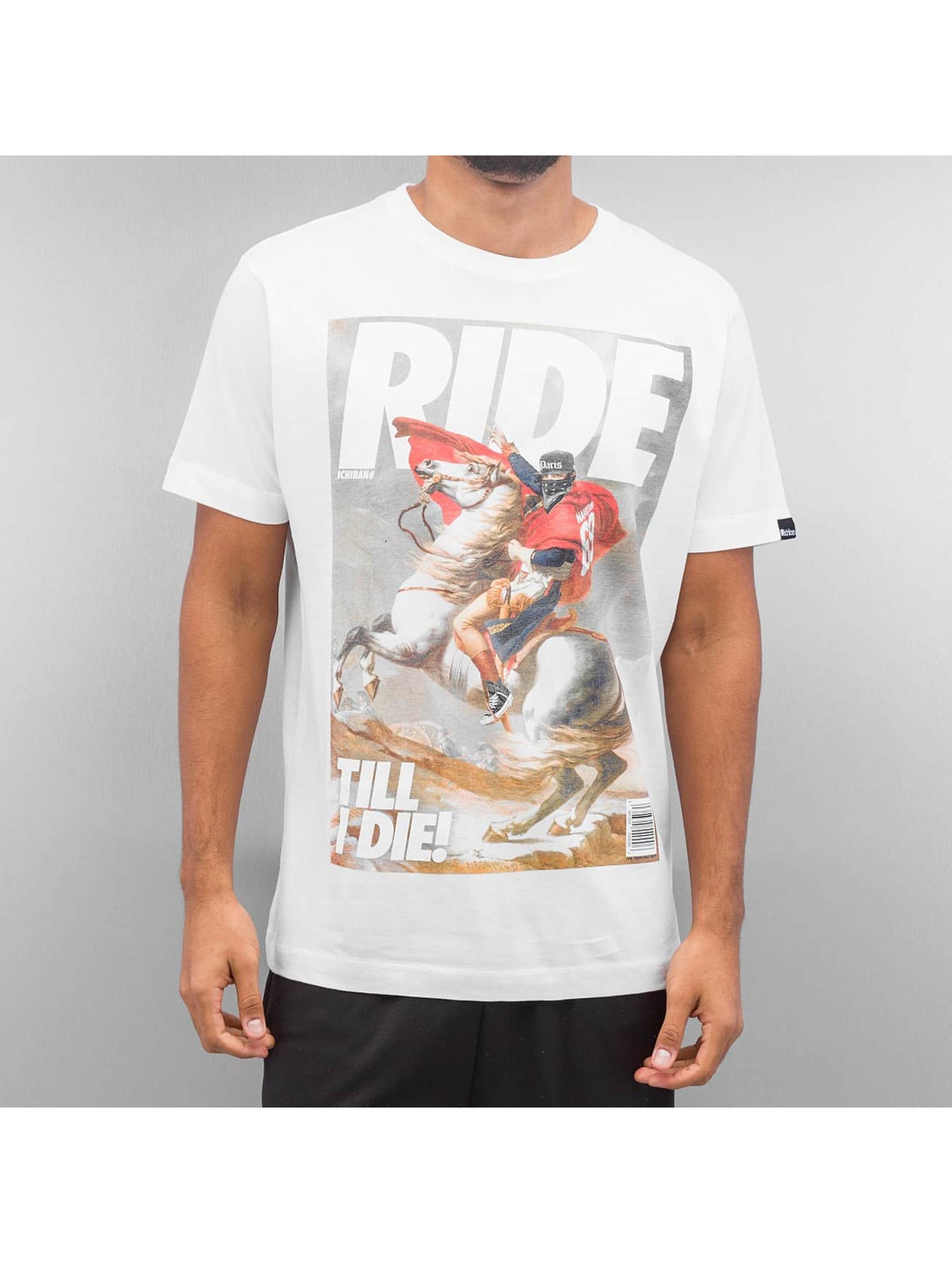 Ichiban Männer T-Shirt Ride Till I Die in weiß