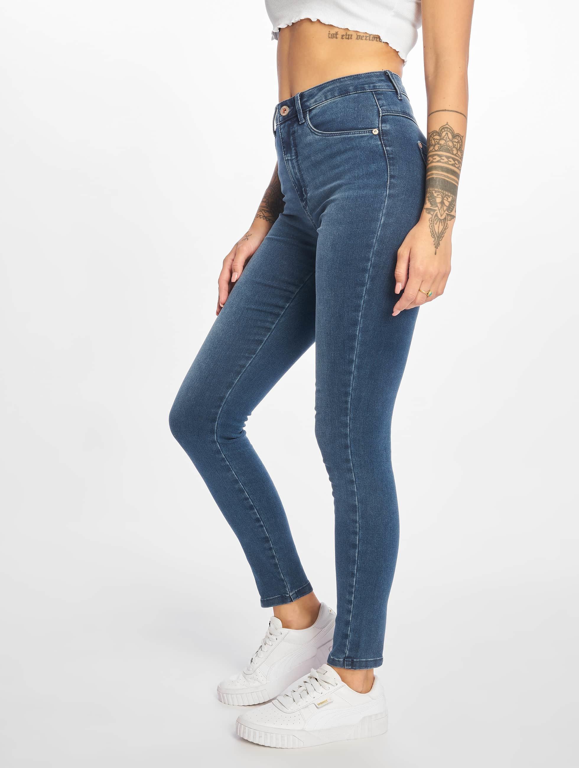 Only Frauen High Waist Jeans onlRoyal Highwaist in blau