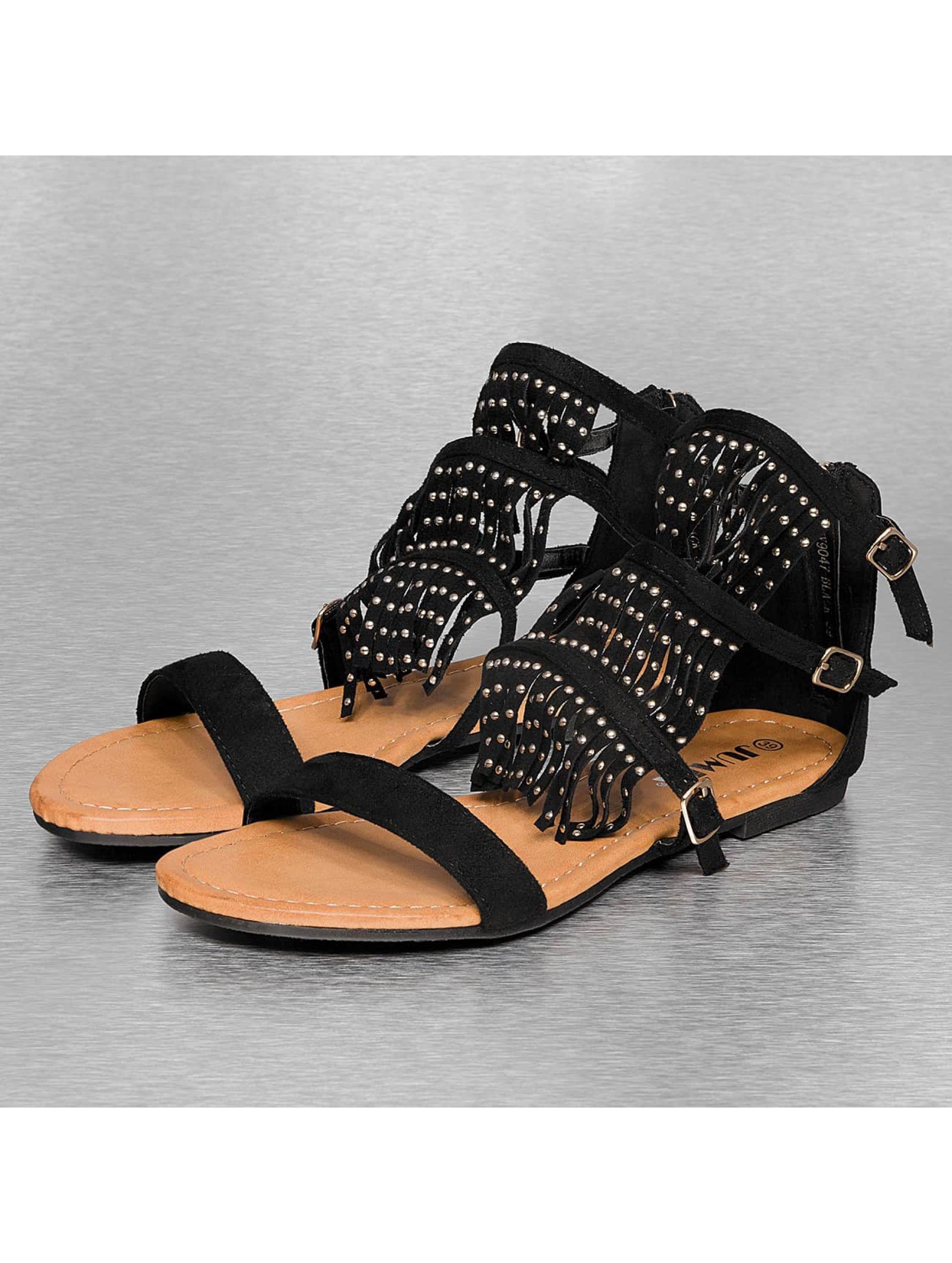 Jumex Frauen Sandalen Summer in schwarz