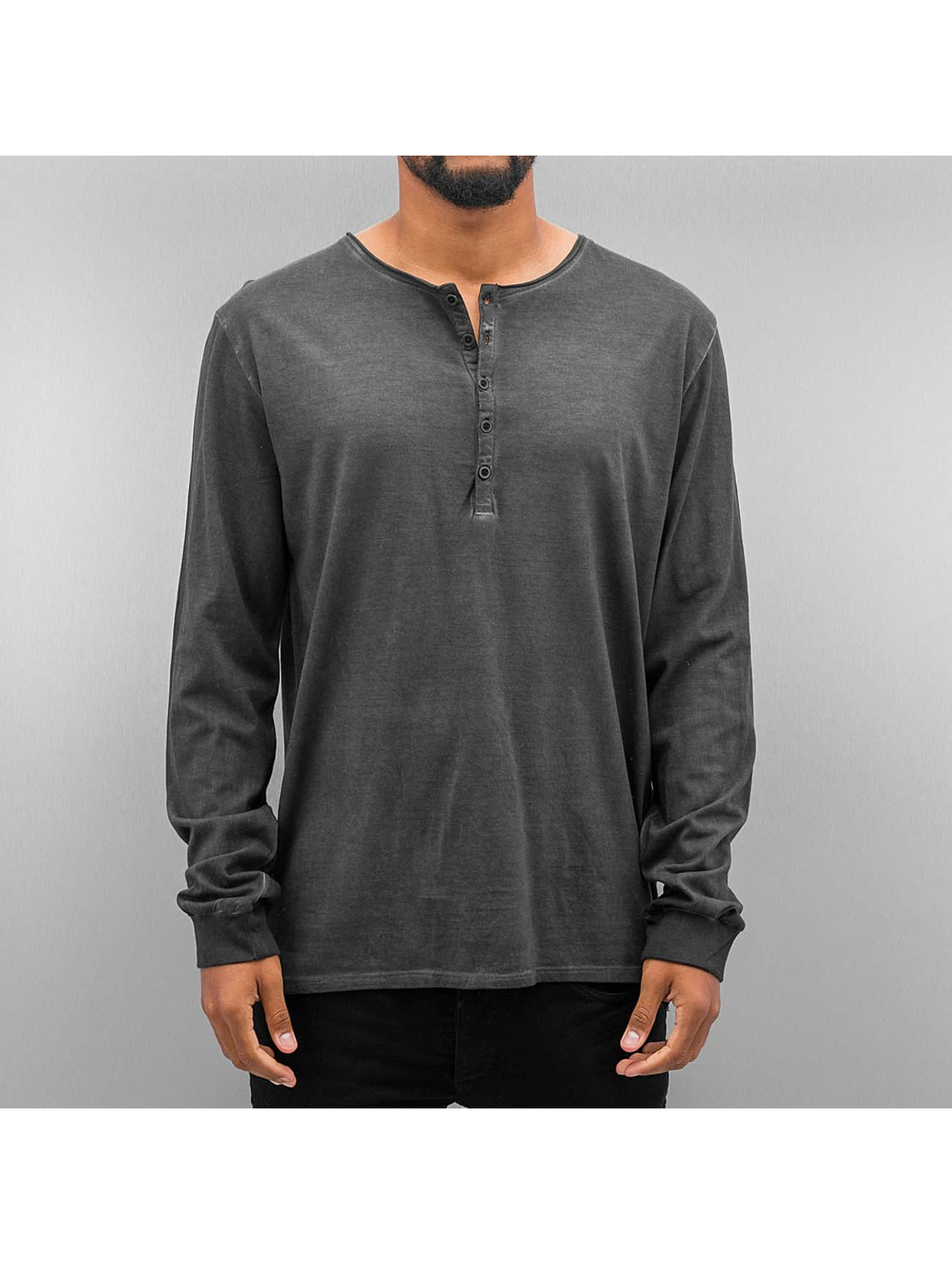 Authentic Style Männer Longsleeve Dyed in grau