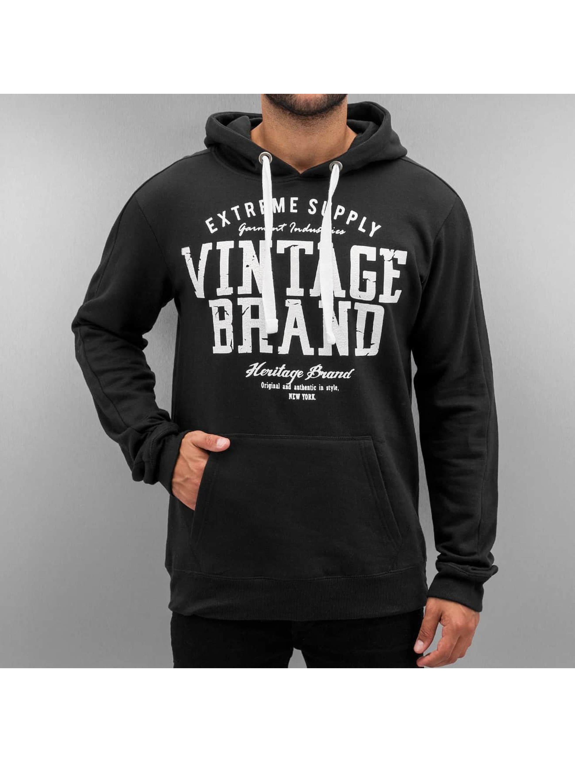 Authentic Style Männer Hoody Vintage Brand in schwarz