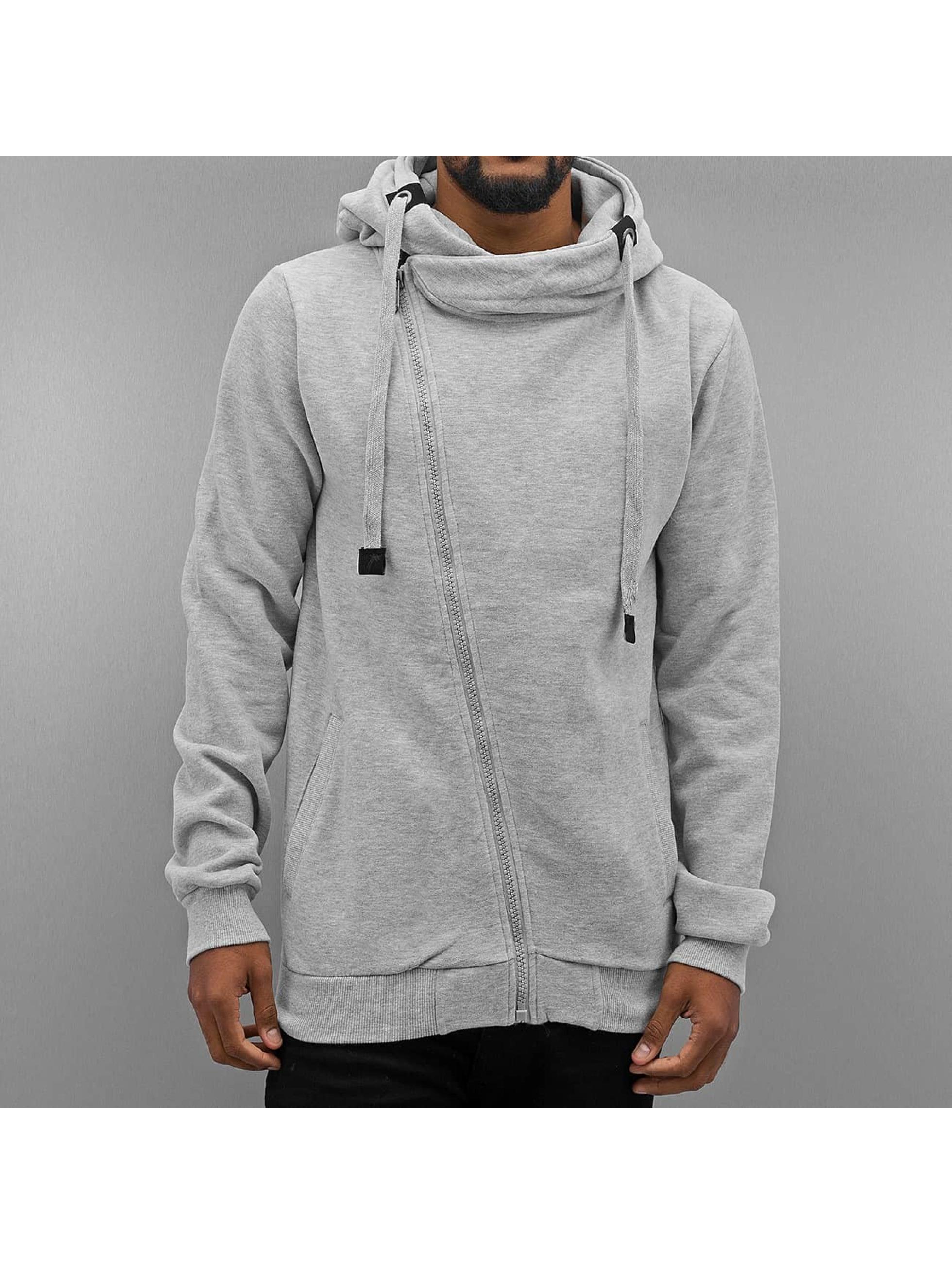 Authentic Style Männer Zip Hoodie Sweat in grau