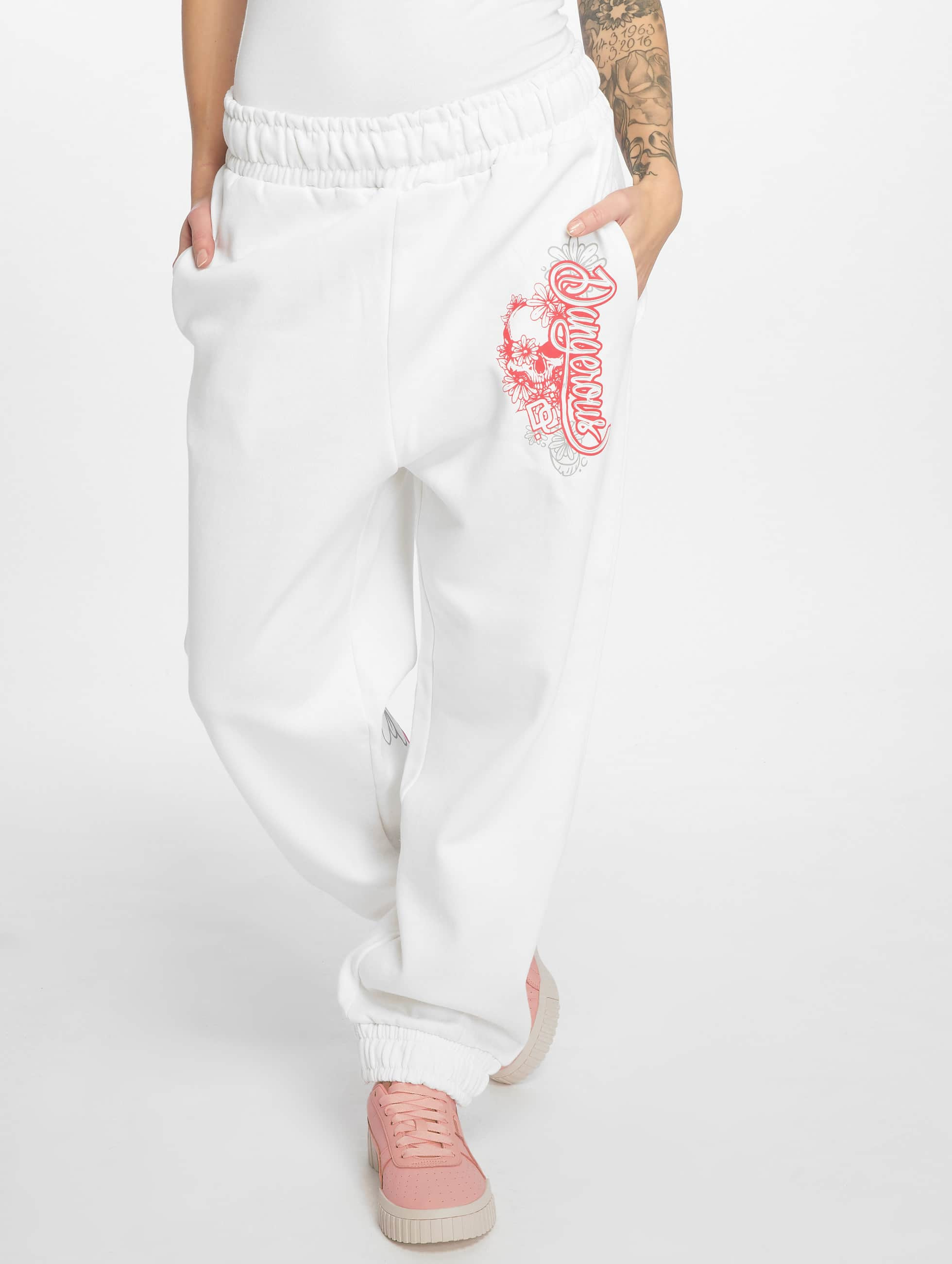 Dangerous DNGRS / Sweat Pant Flower in white S