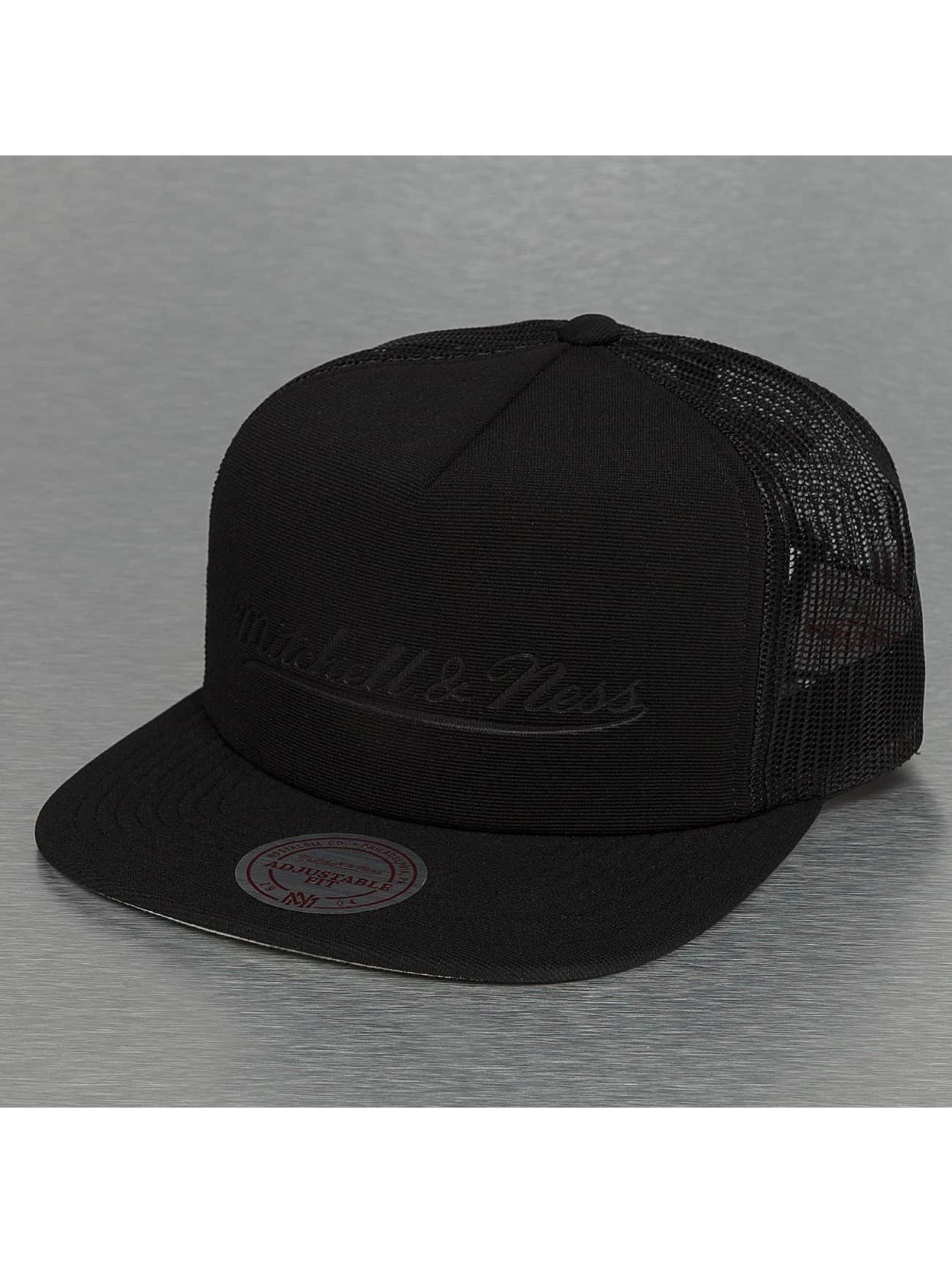Mitchell & Ness Tonal D Trucker Snapback Cap Black Sale Angebote