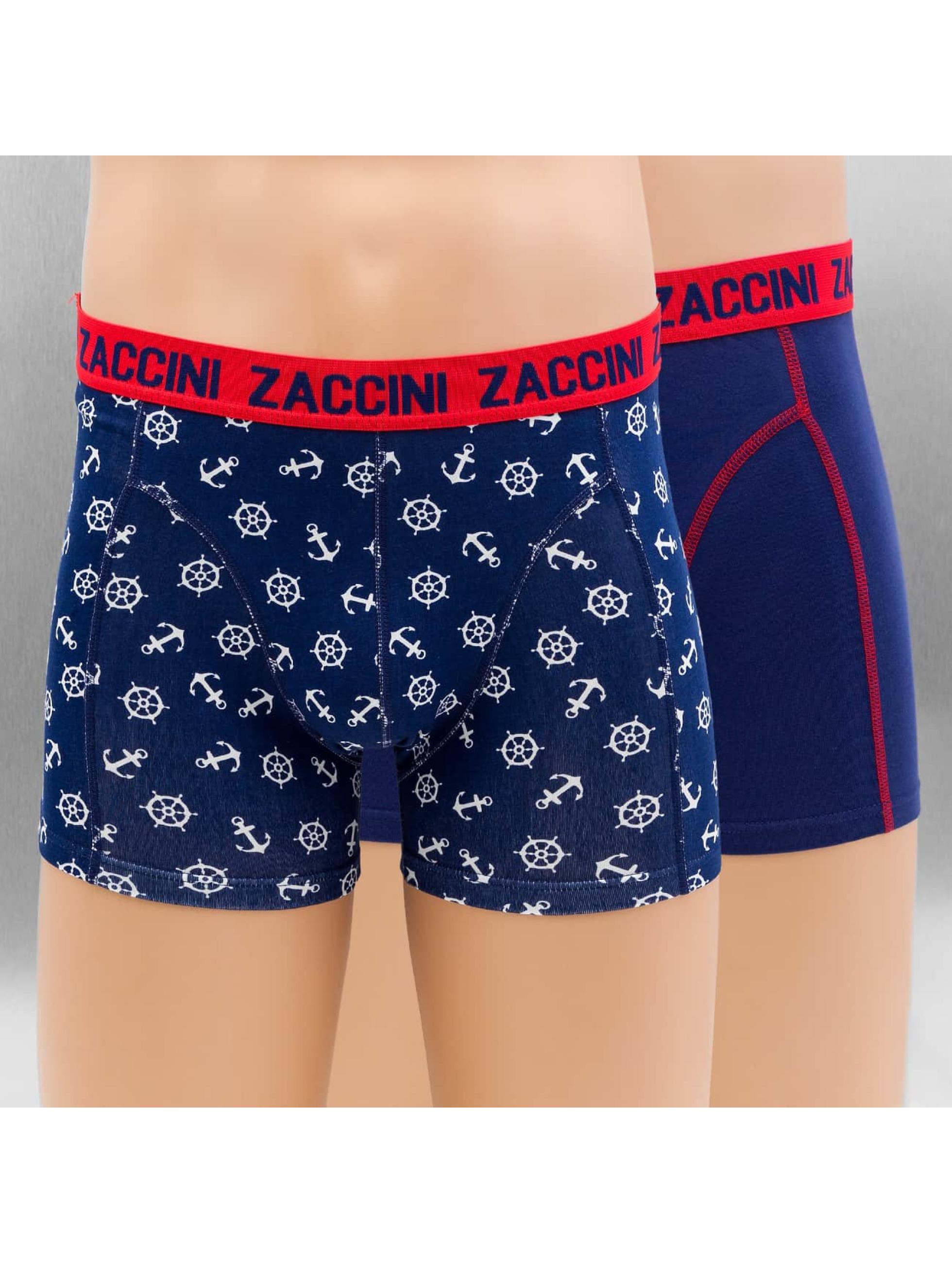 Zaccini Männer Boxershorts Nautical 2-Pack in blau