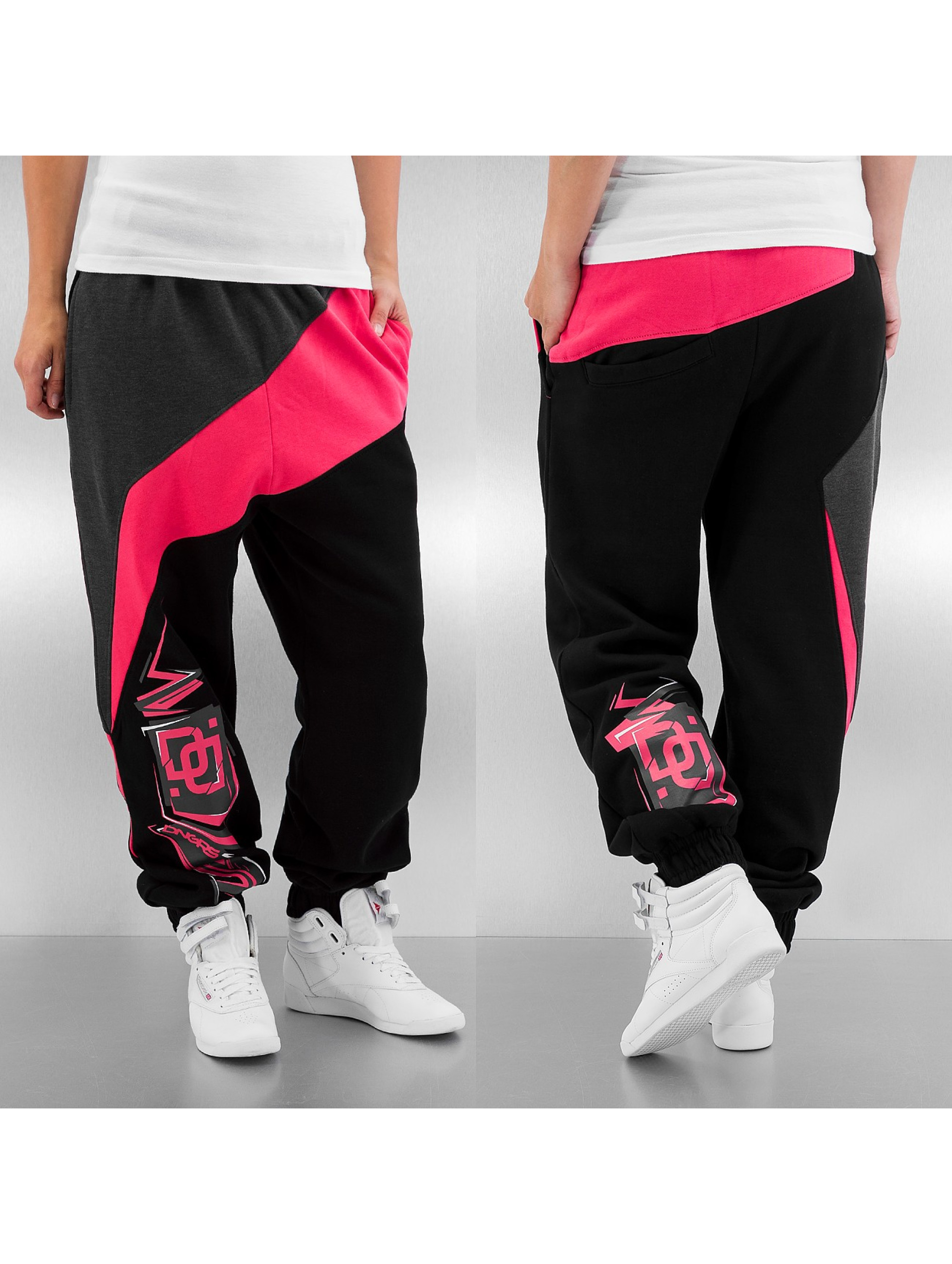 Dangerous DNGRS Classic Sweatpants Black Pink