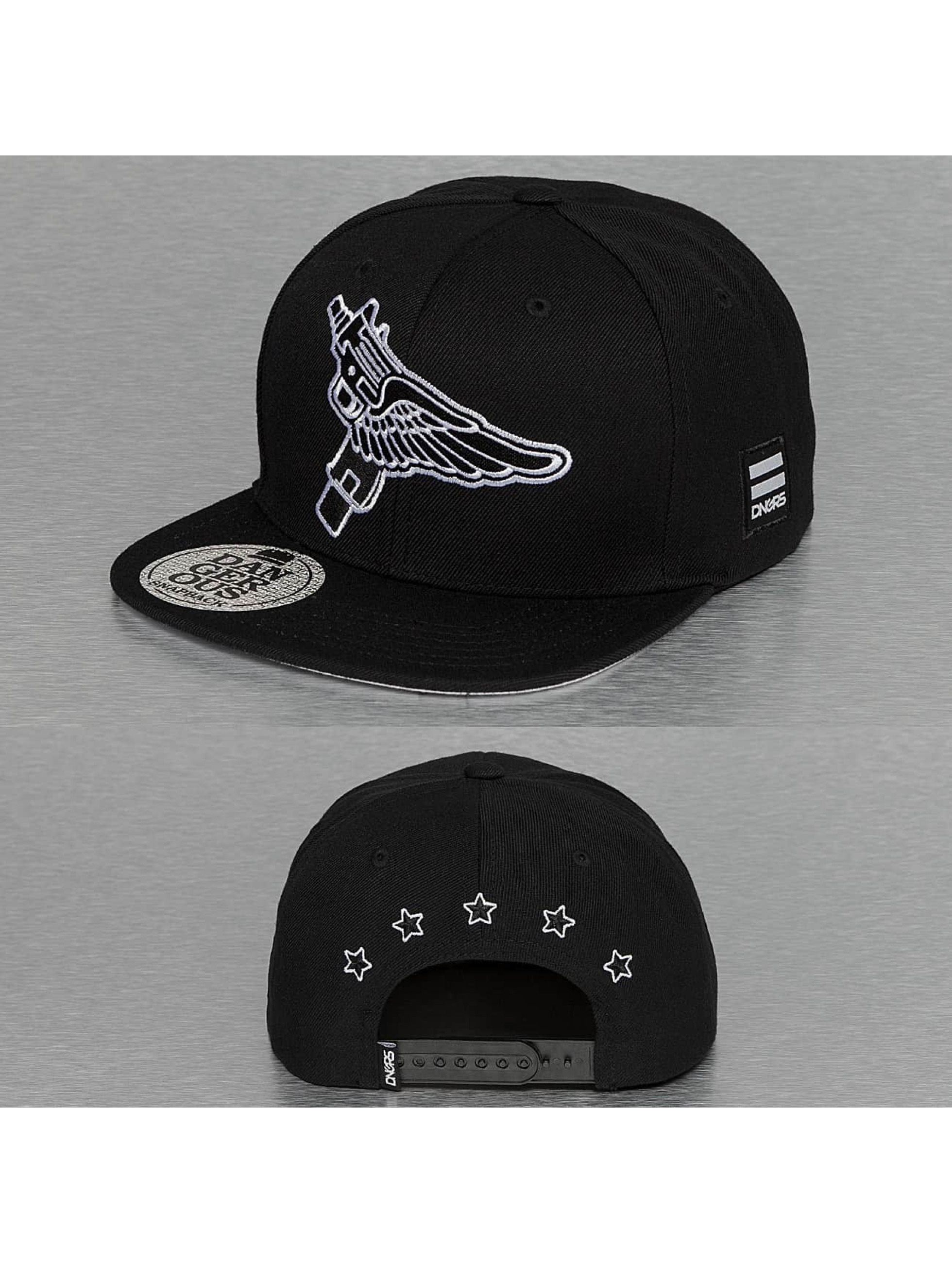 Dangerous DNGRS / Snapback Cap Flying Uzi in black one size