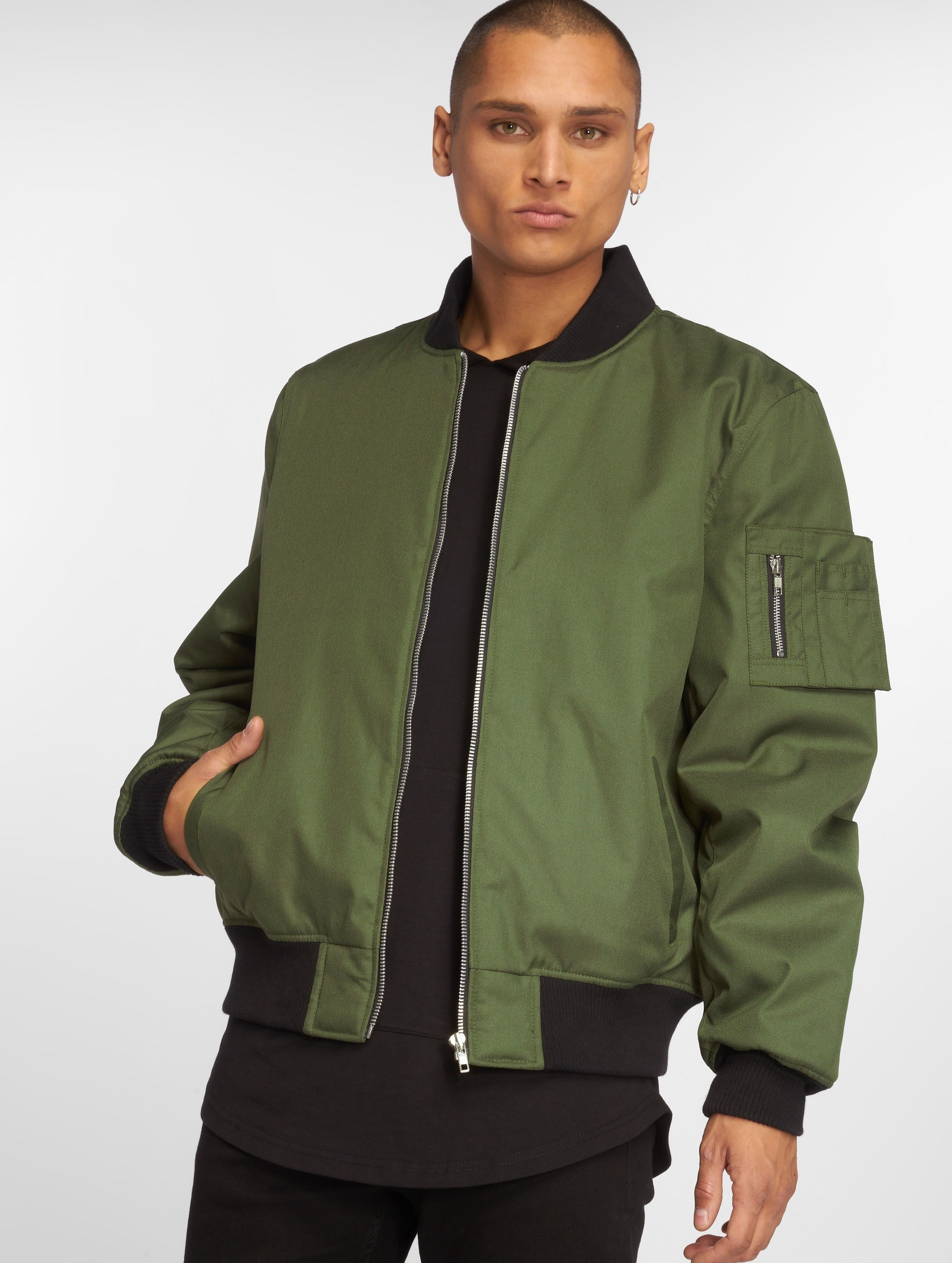 Dangerous DNGRS / Bomber jacket Classic in olive XL