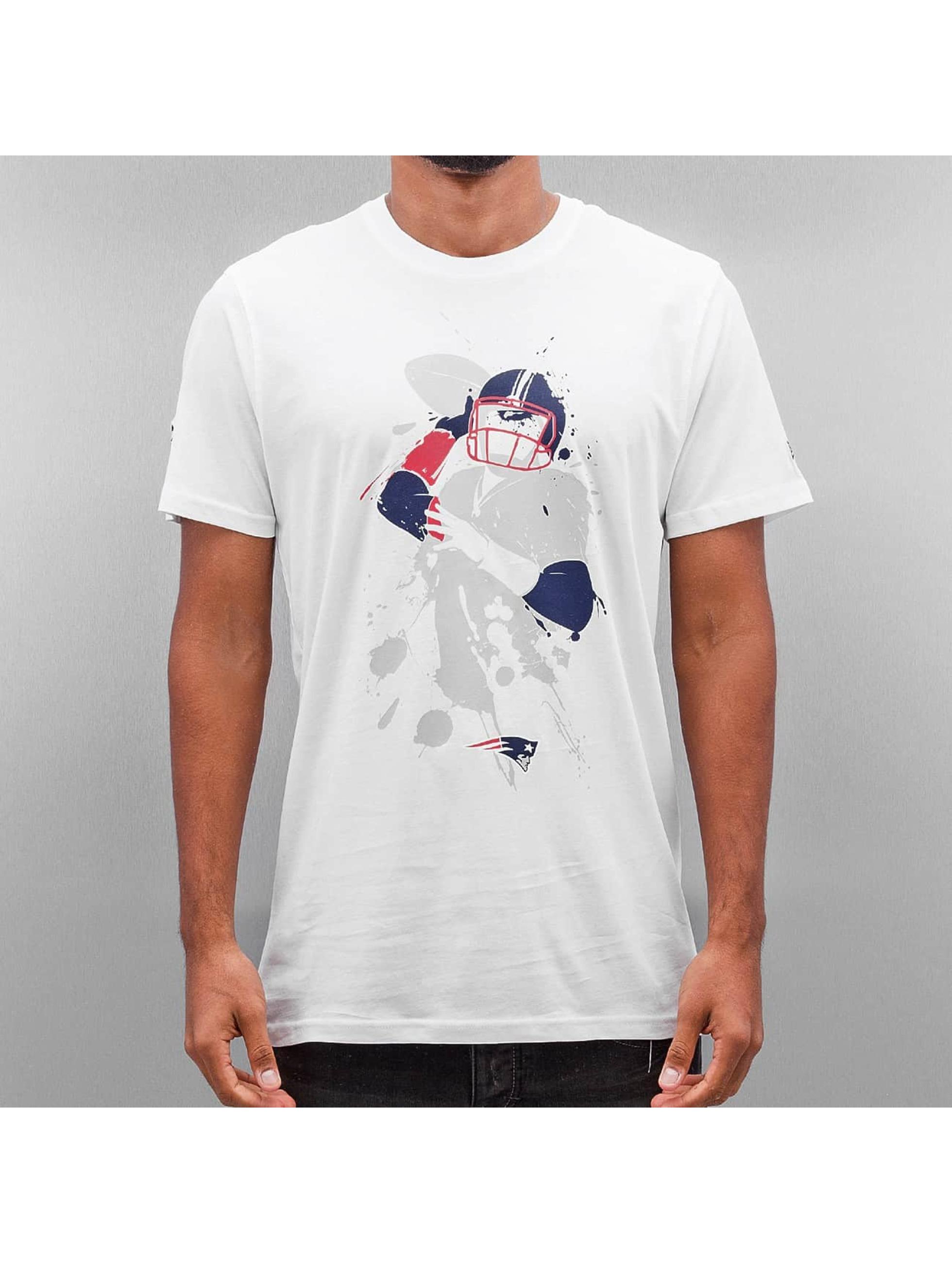 New Era Männer T-Shirt NFL Quarterback Splash England Patriots in weiß