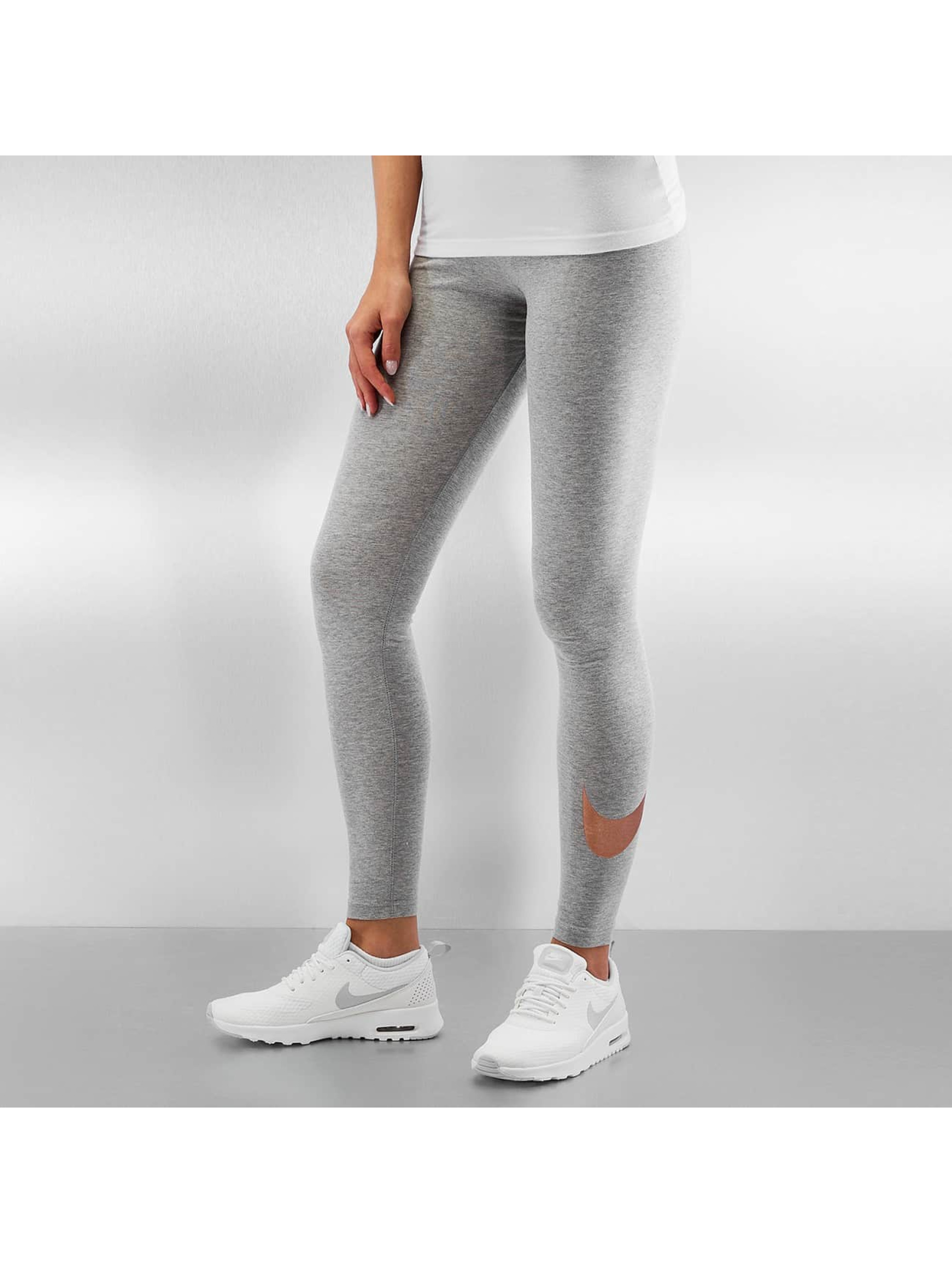Nike Frauen Legging Club Logo 2 in grau