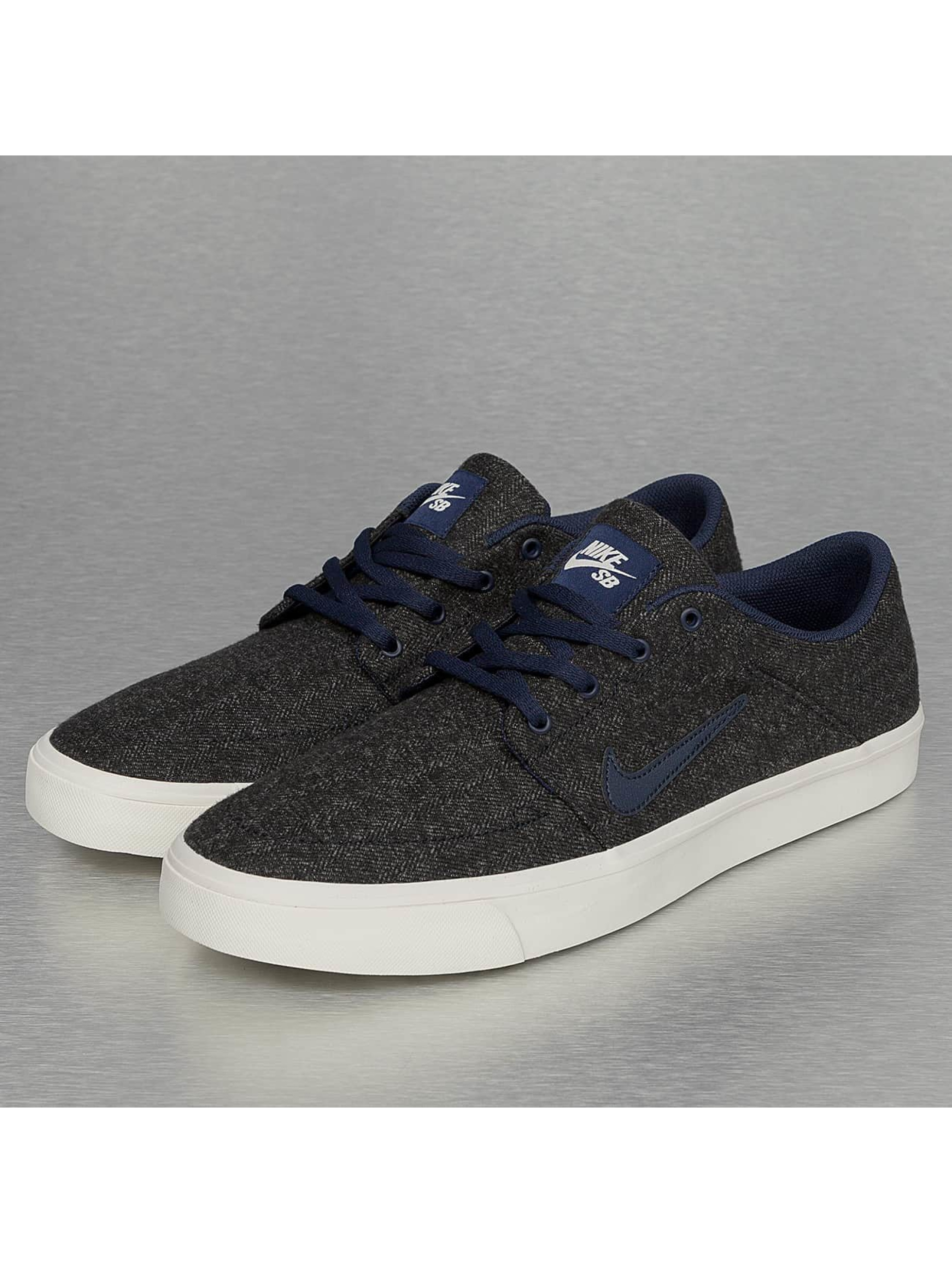 Nike SB Portmore Canvas Premium Sneakers Anthracite/Obsidian/Ivory