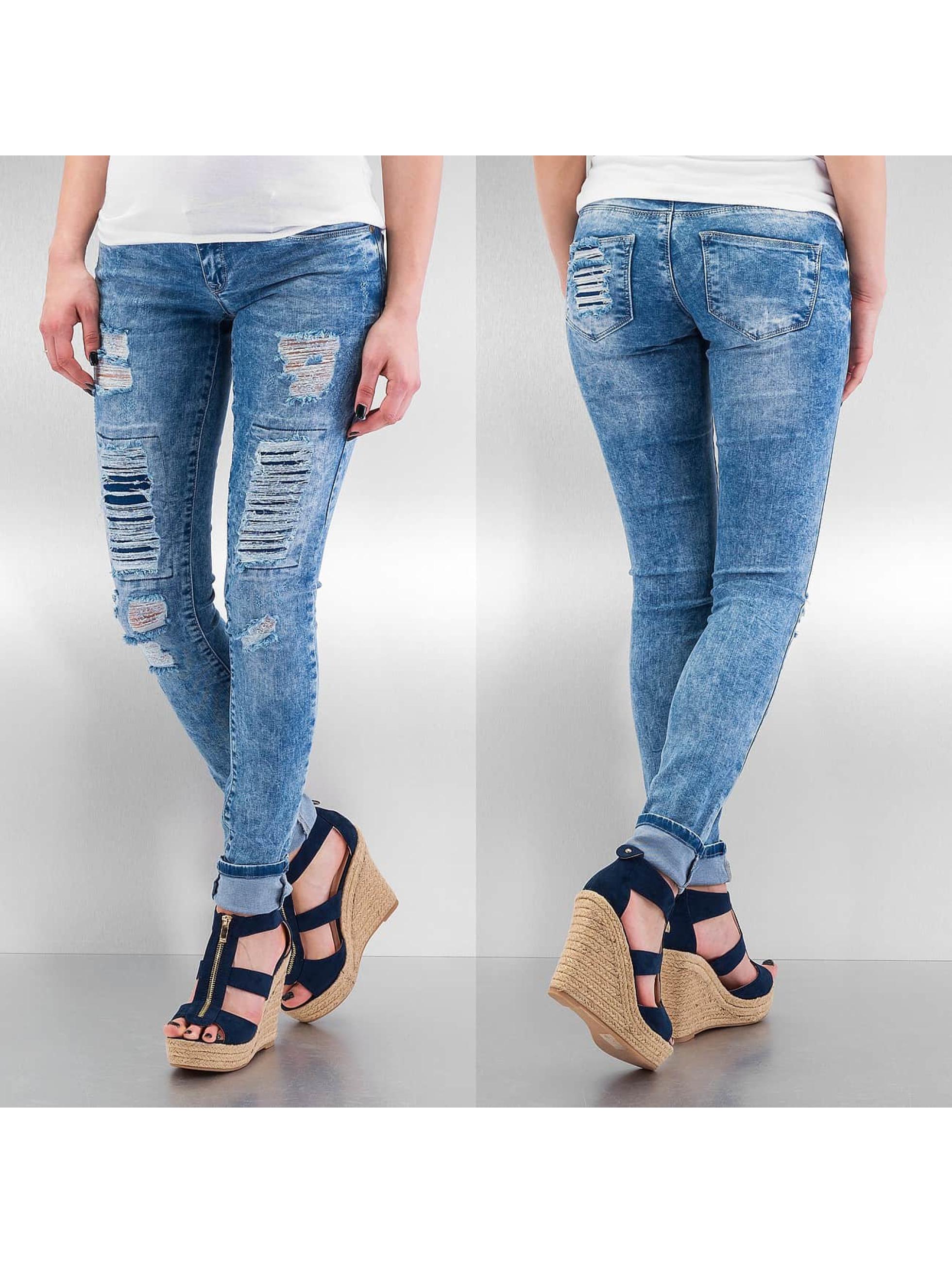 Hermsdorf Angebote Just Rhyse Frauen Skinny Jeans Destroyed in blau