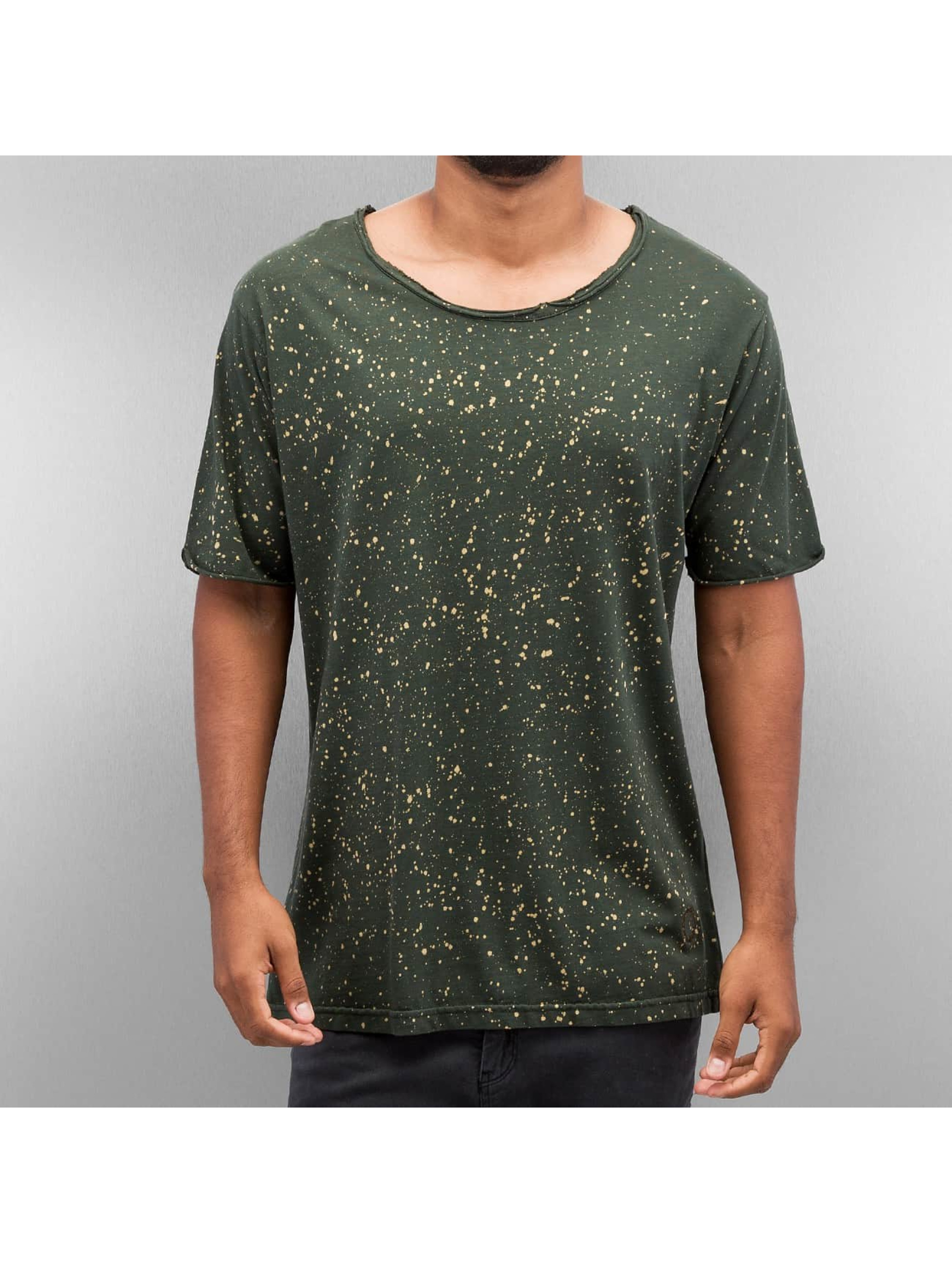 Yezz Männer T-Shirt Dots in olive