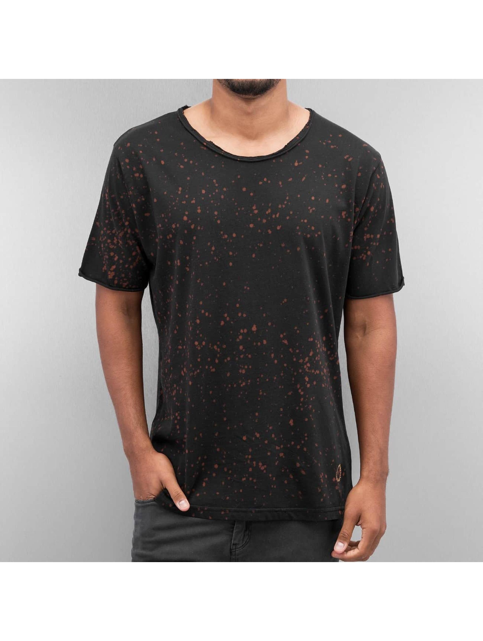 Yezz Männer T-Shirt Dots in schwarz
