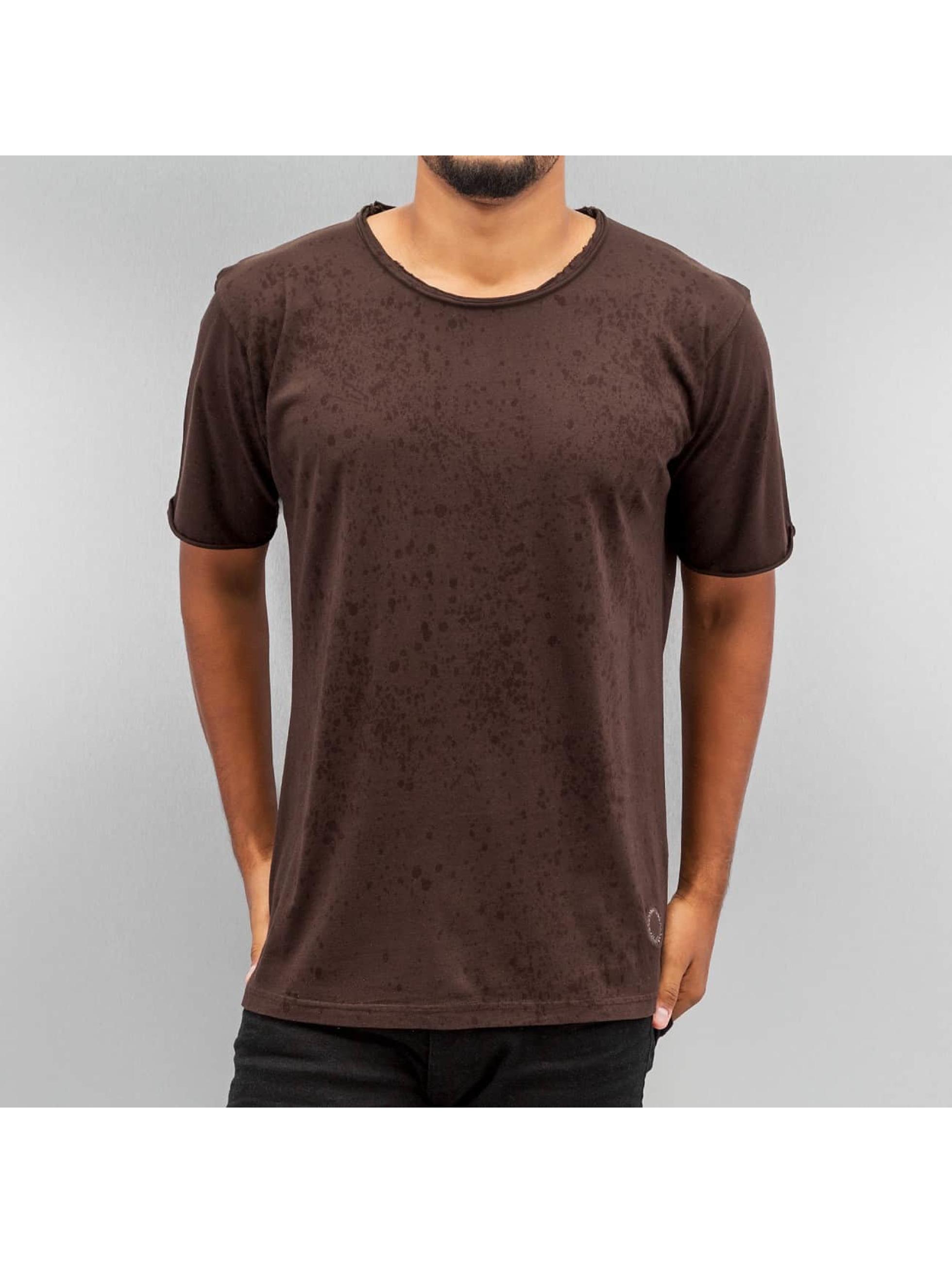 Yezz Männer T-Shirt Splash in braun