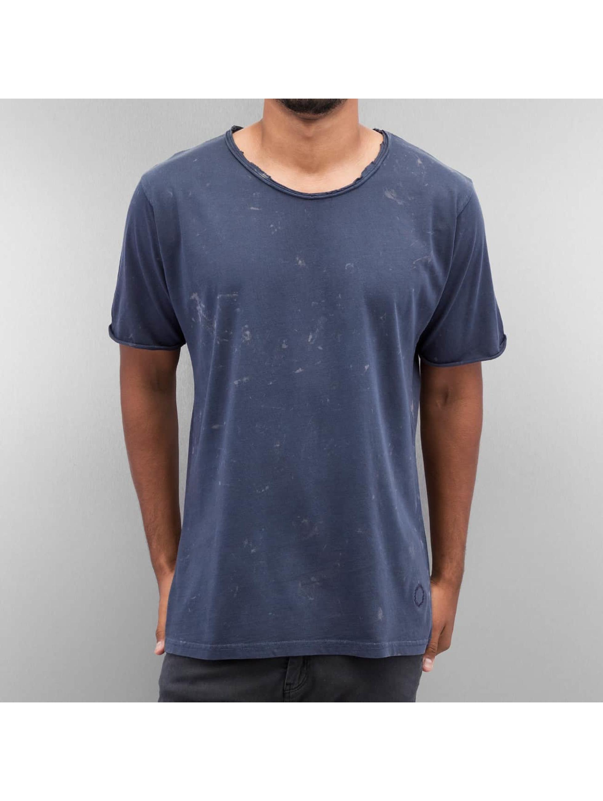 Yezz Männer T-Shirt Bleched in blau