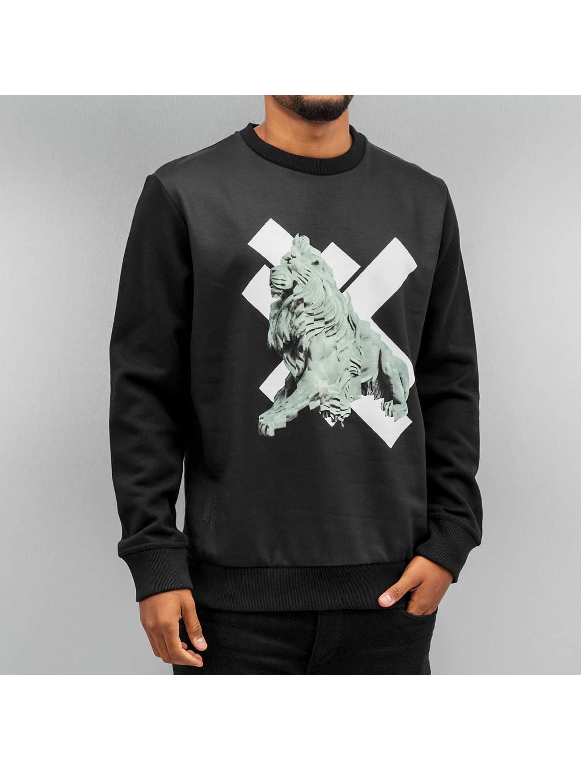 Yezz Männer Pullover Lion in schwarz
