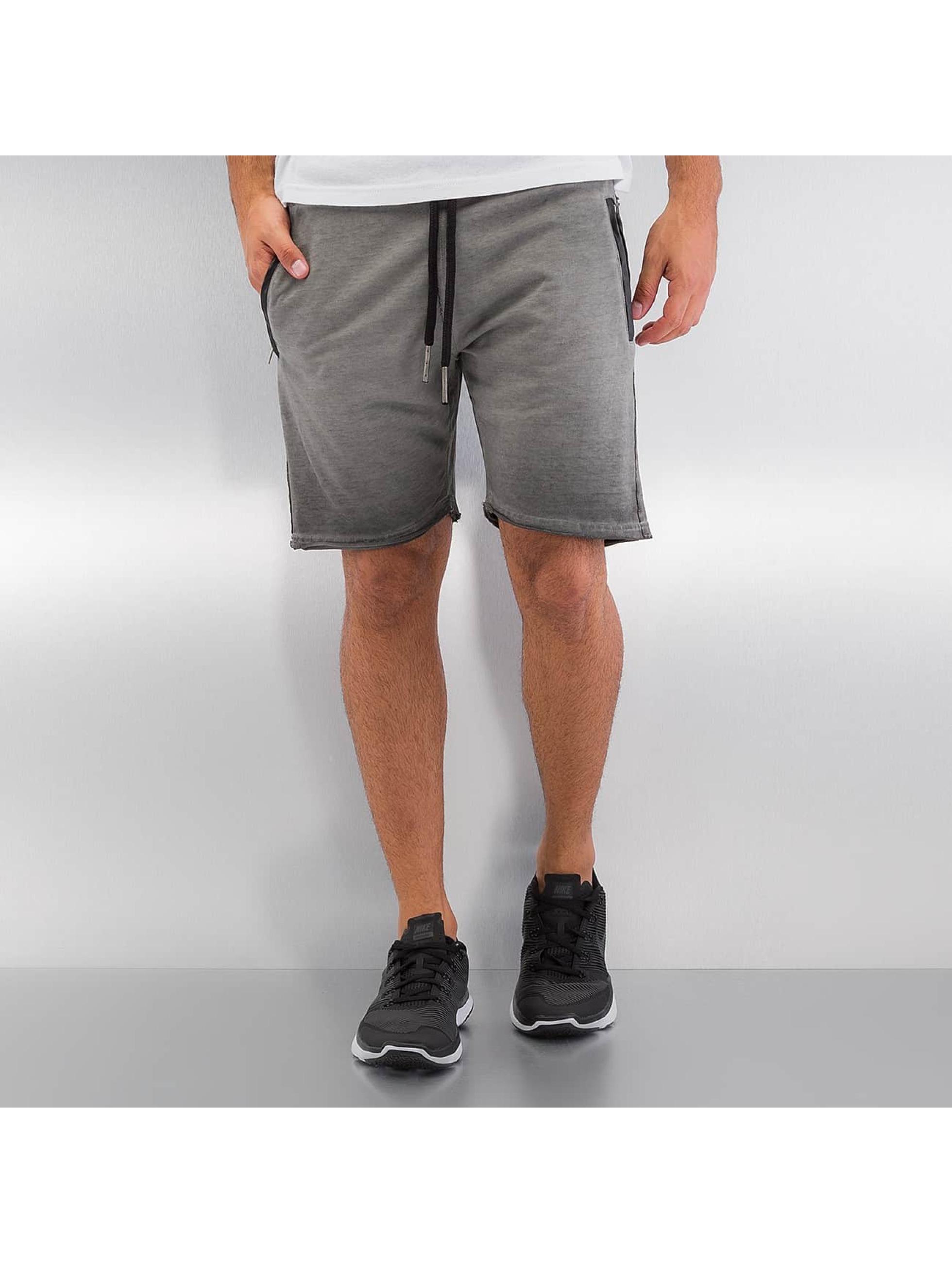 Yezz Männer Shorts Terry Oil in grau