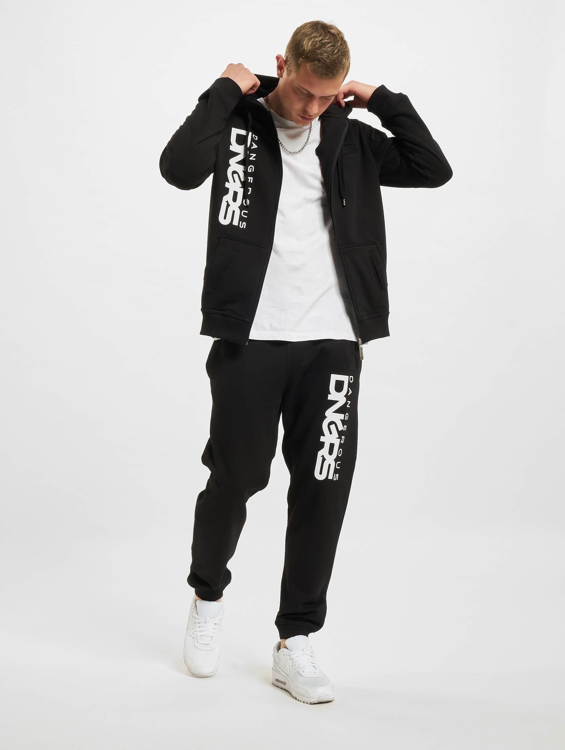 Dangerous DNGRS / Suits Sweat Suit in black 5XL
