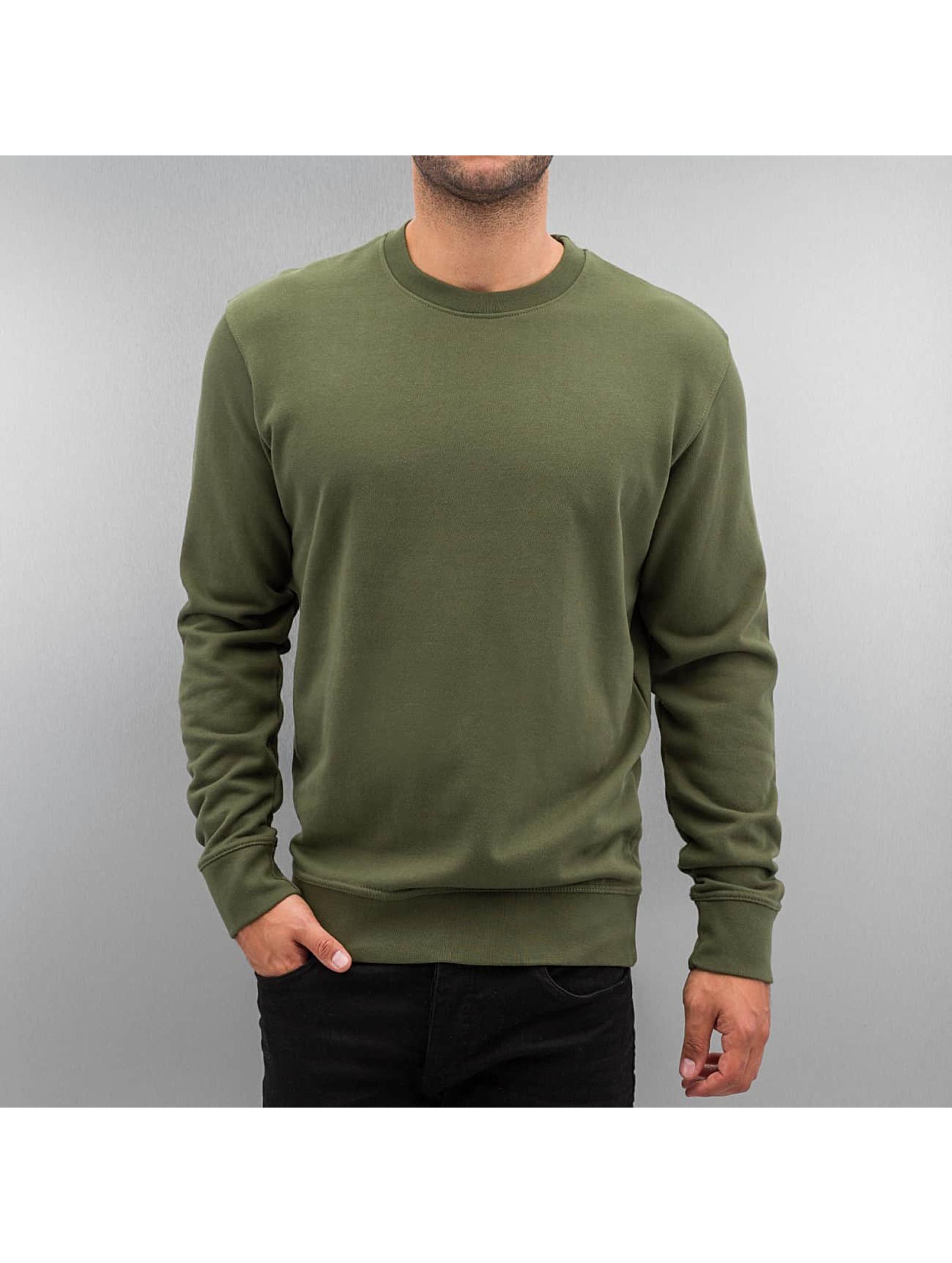 DEF Männer Pullover Basic in grün
