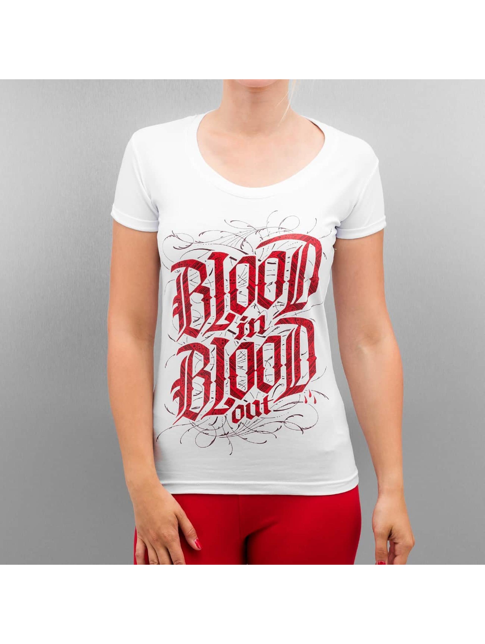 Blood In Blood Out Frauen T-Shirt Logo in weiß