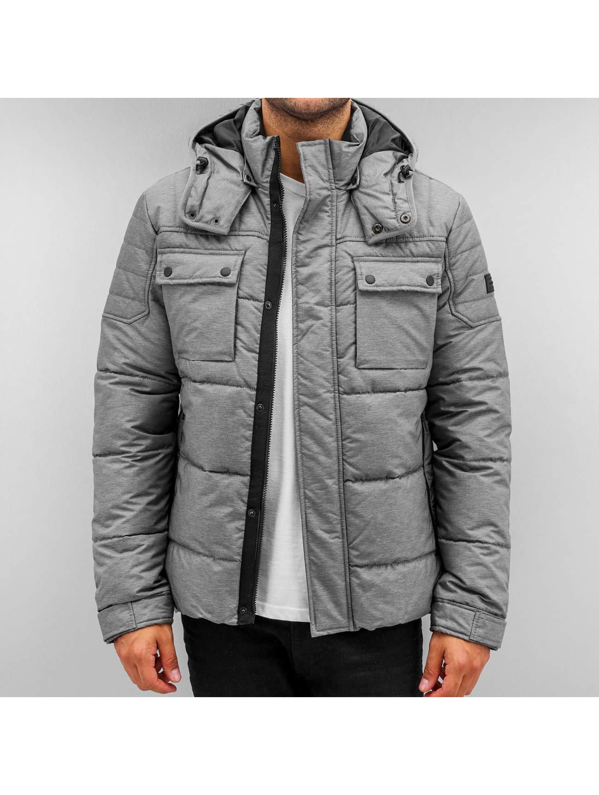 Jack Jones jcoCam Puffer Jacket Grey Melange