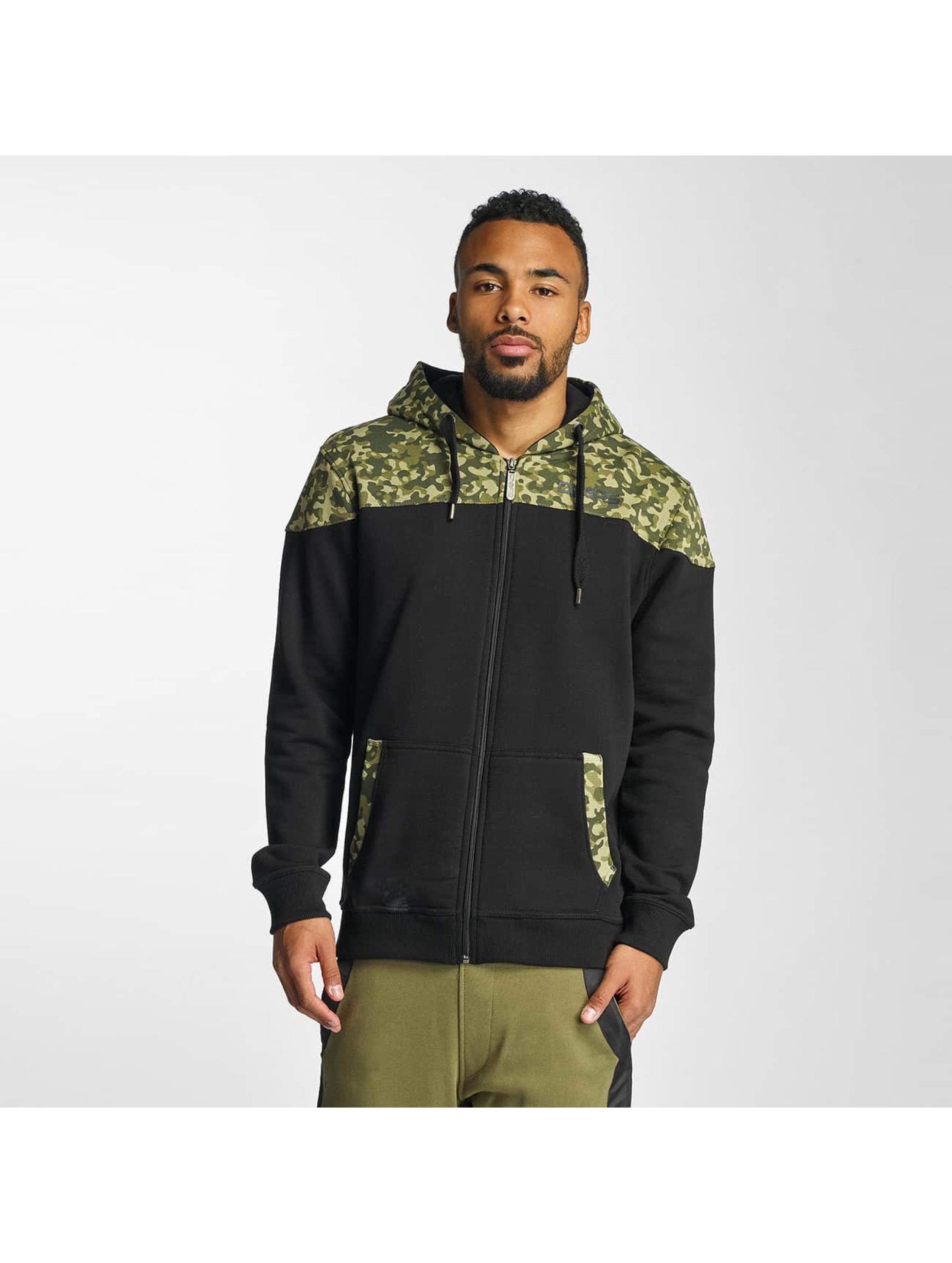 Dangerous DNGRS Männer Zip Hoodie Jim in camouflage