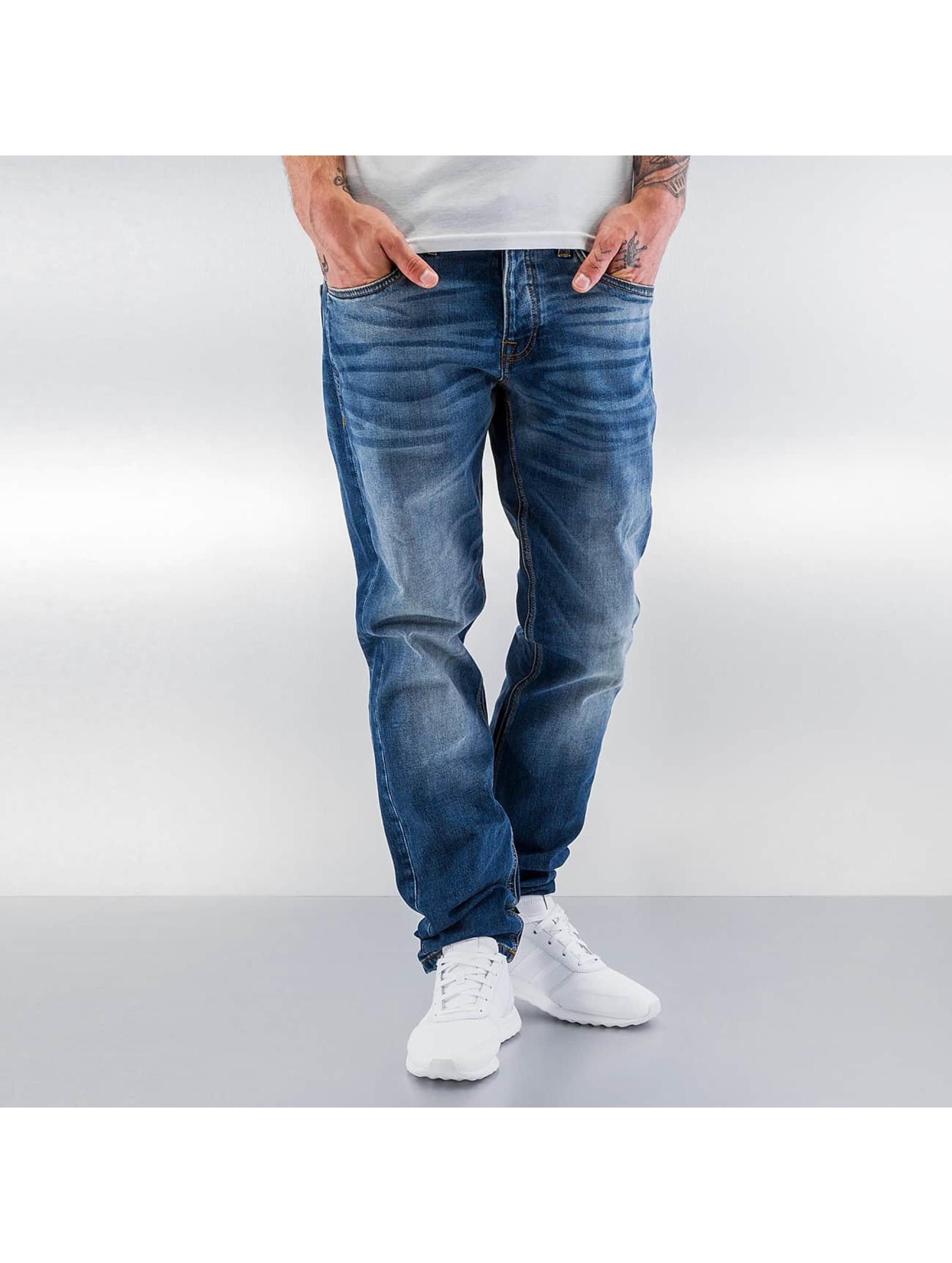 Jack & Jones Männer Straight Fit Jeans jjiMike jjOriginals in blau