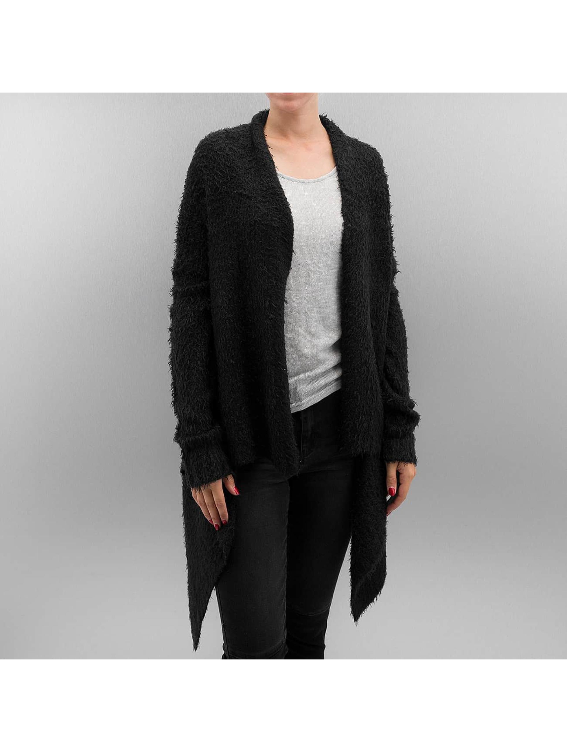 Urban Classics Frauen Strickjacke Ladies Knit Feather in schwarz