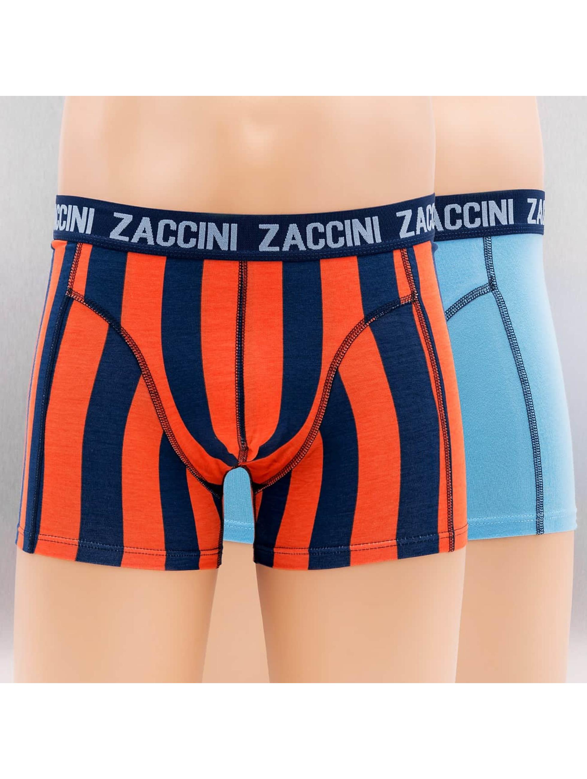 Zaccini Männer Boxershorts Marrakesh 2-Pack in blau