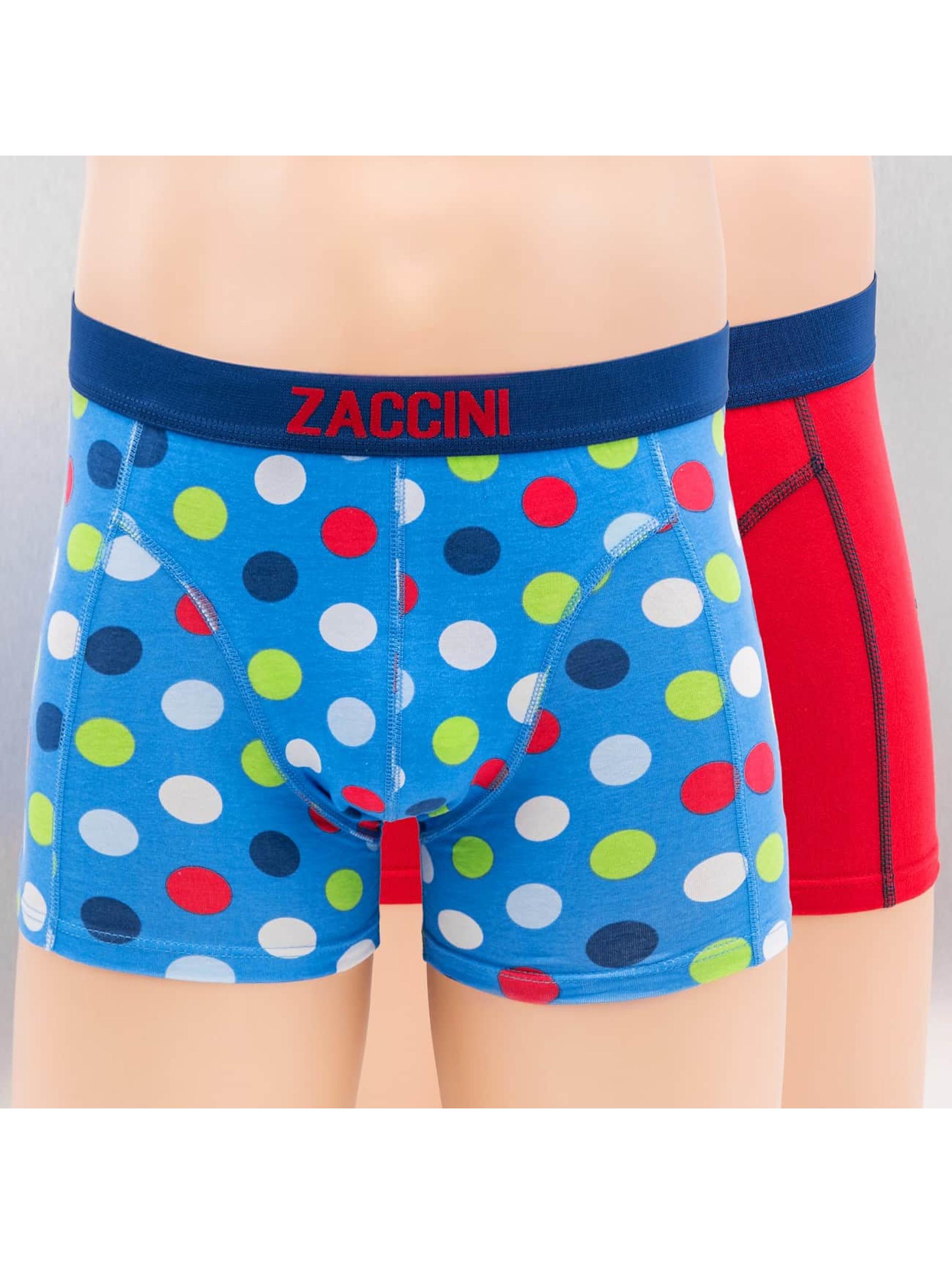 Zaccini Männer Boxershorts Confetti 2-Pack in blau