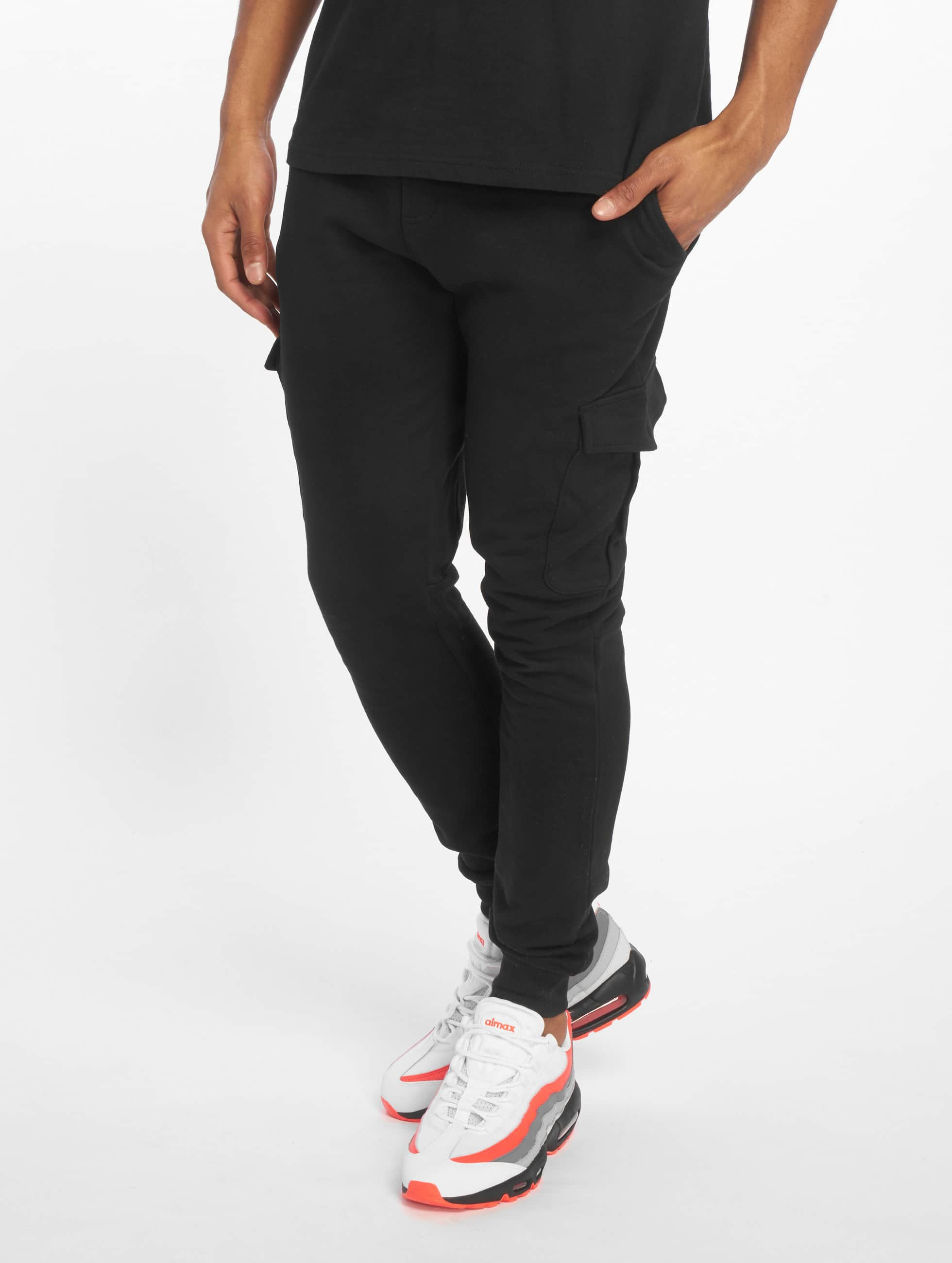 Urban Classics Fitted Cargo Sweatpants Black