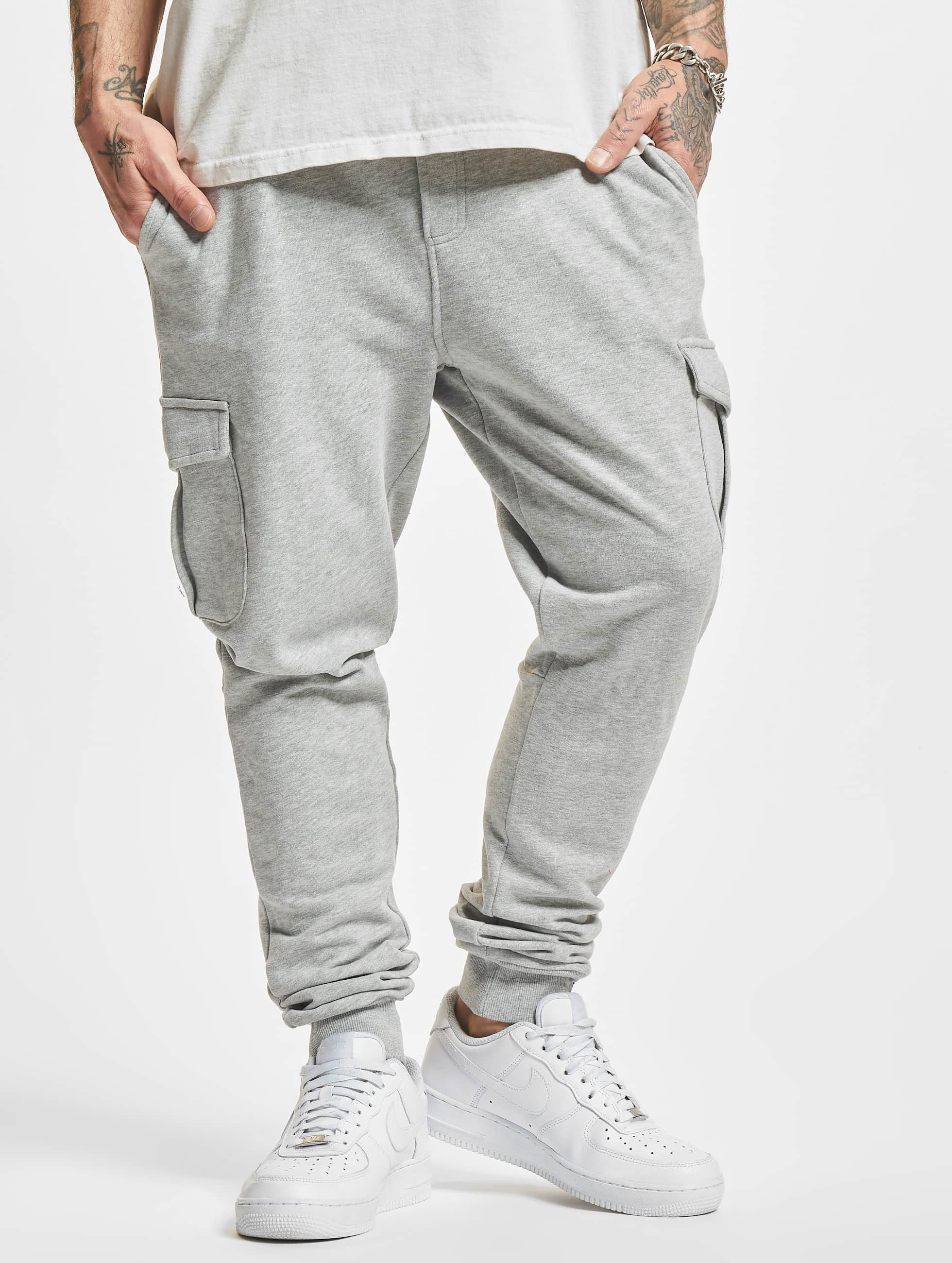 Urban Classics Fitted Cargo Sweatpants Grey