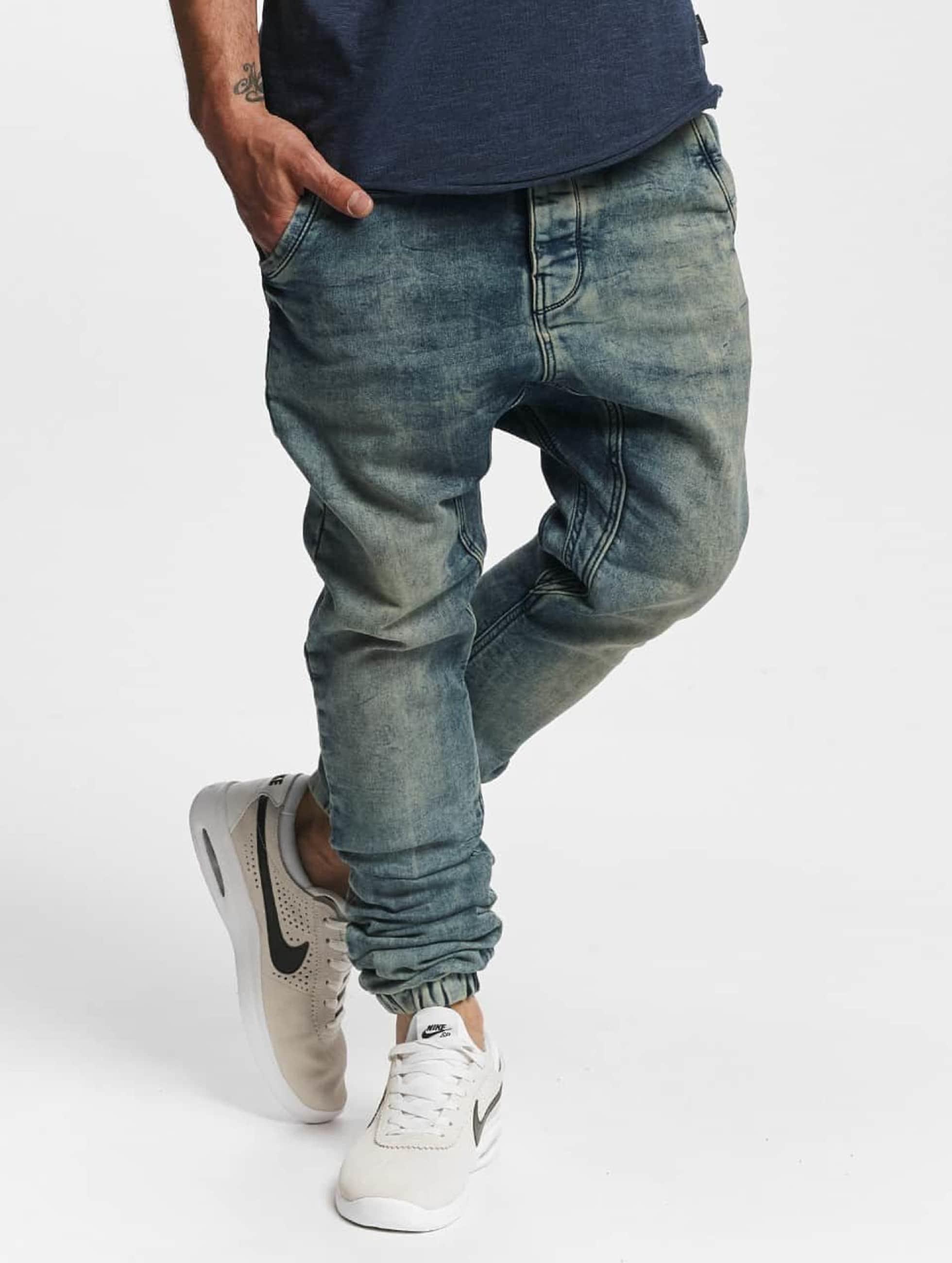 VSCT Clubwear Männer Antifit Noel Cuffed Jogg Bleached in blau