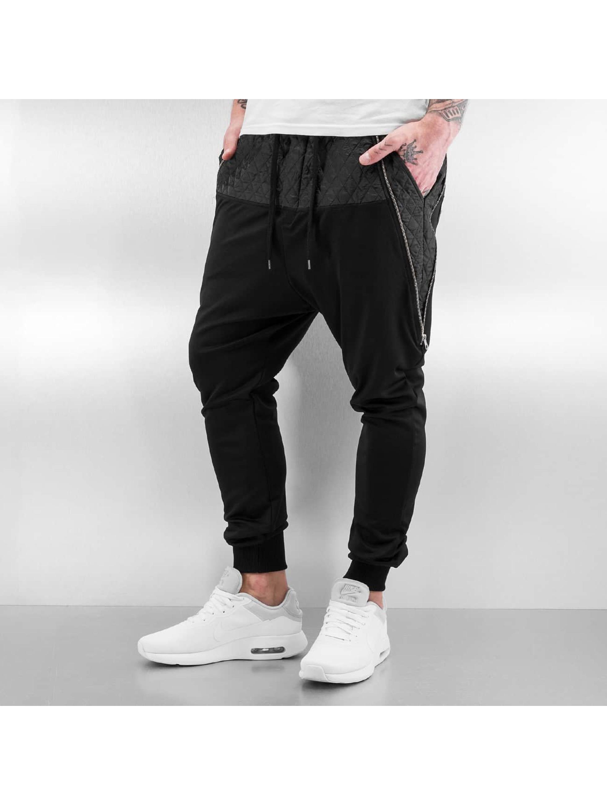 VSCT Clubwear Männer Jogginghose Lowcrotch Padded in schwarz