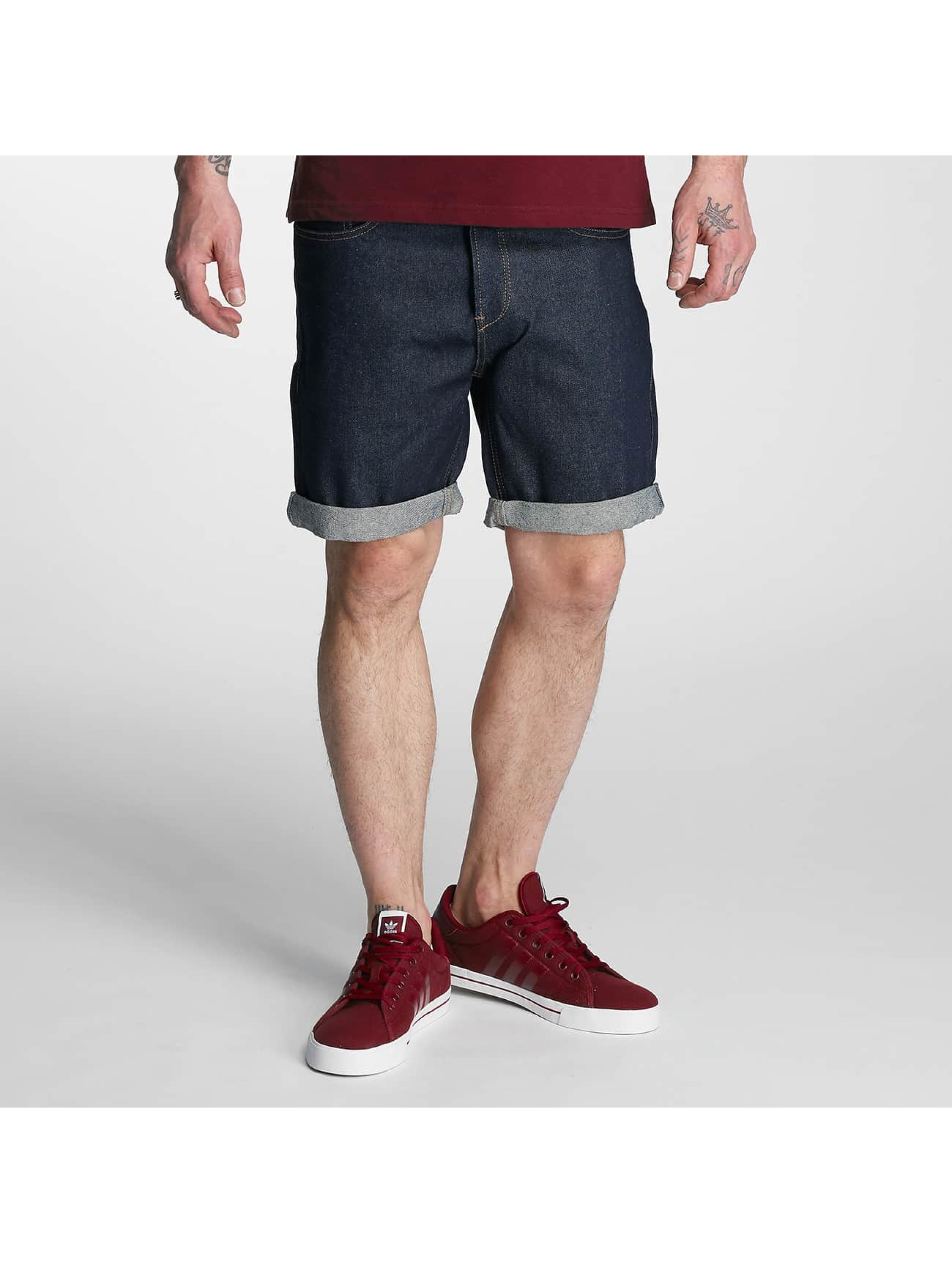 Solid Männer Shorts Denim in blau