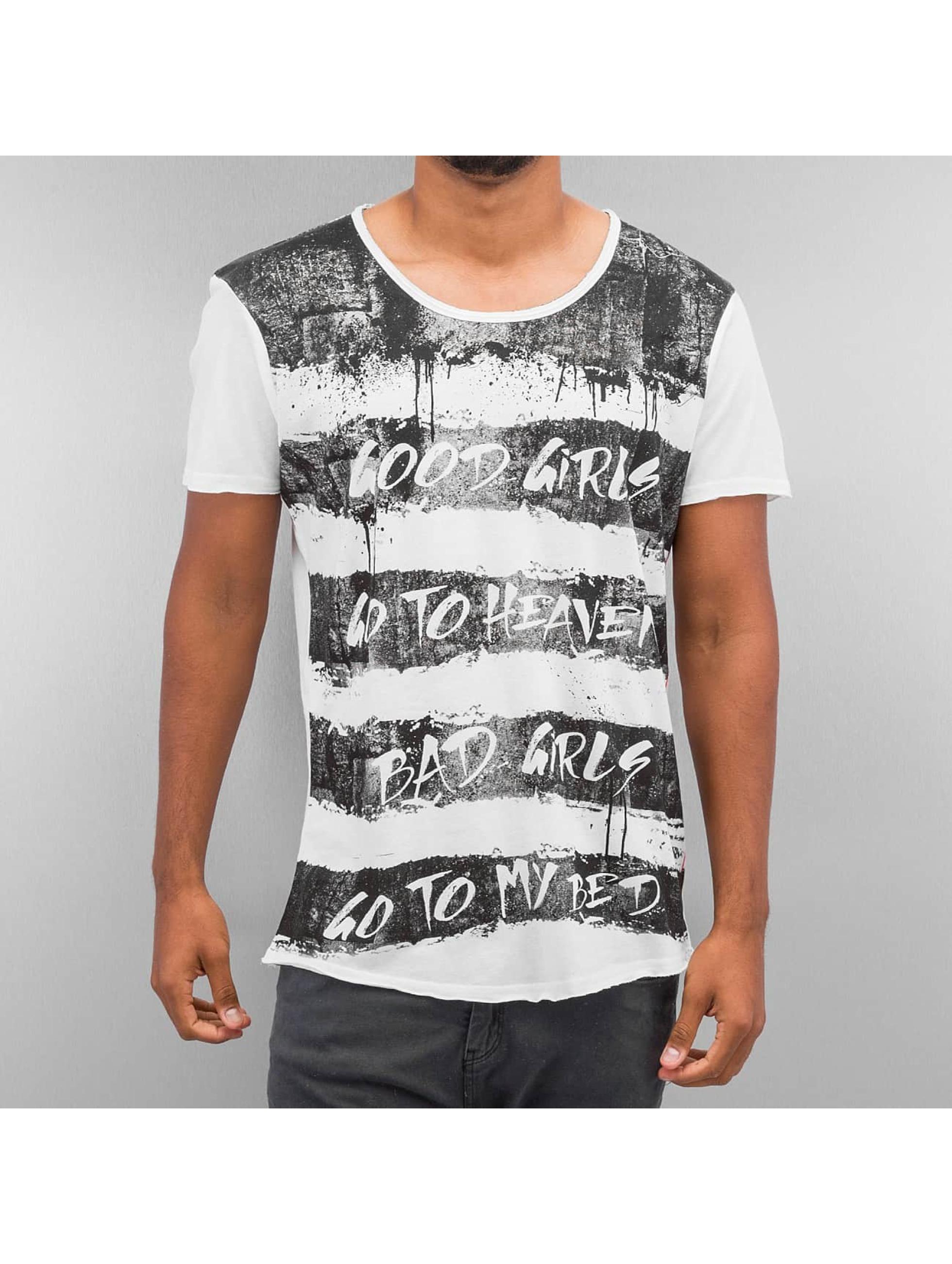 trueprodigy Männer T-Shirt Stripe Printed in grau